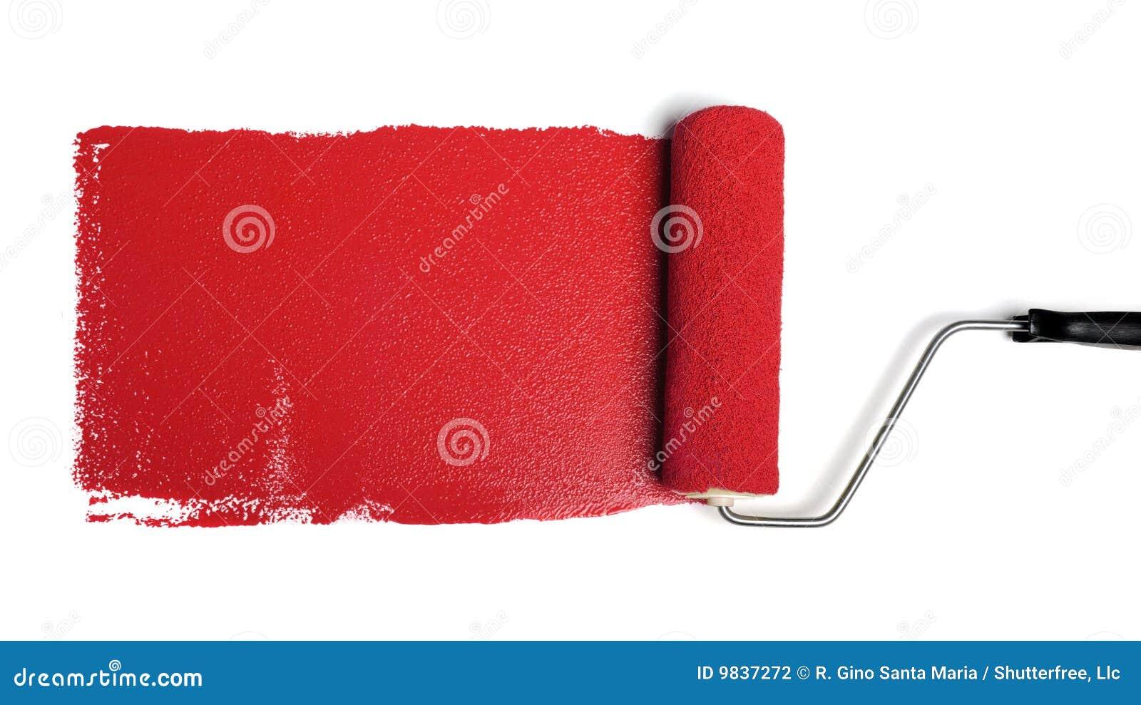 Peignez le rouleau rouge