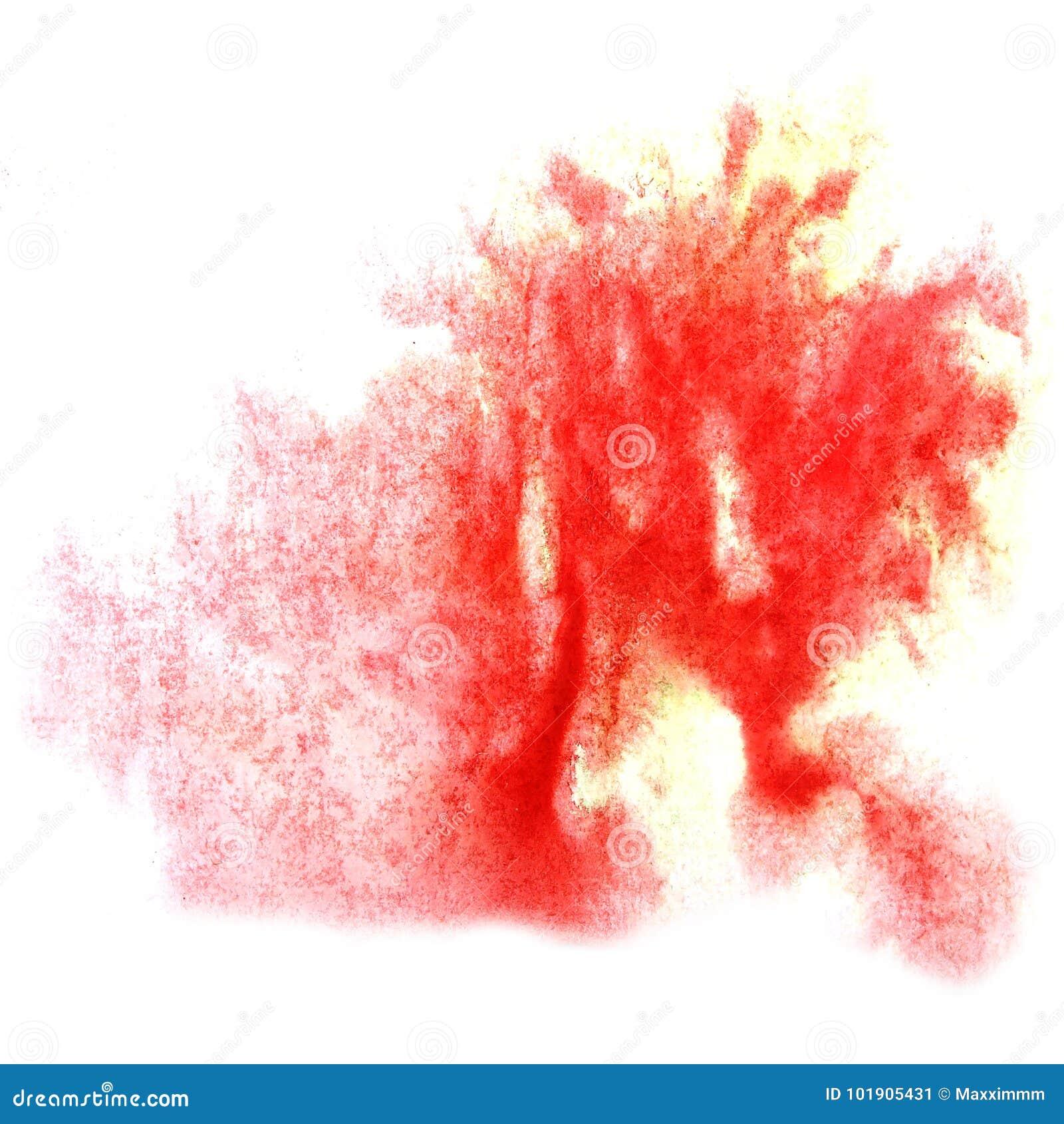 Peignez le watercolo pour aquarelle de brosse de tache de goutte d éclaboussure de tache rouge d encre