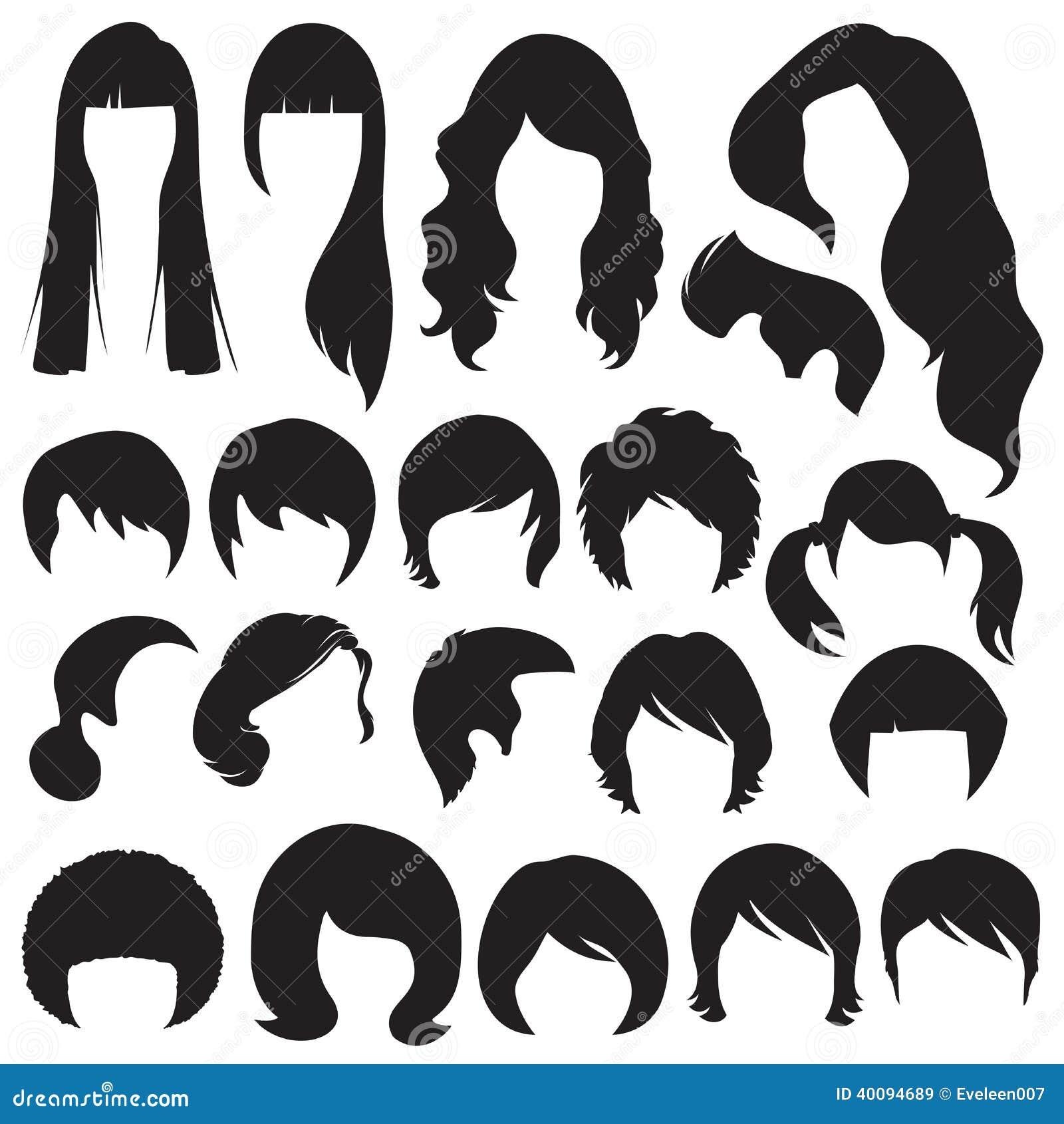 Peinado Ilustraci 243 N Del Vector Imagen 40094689