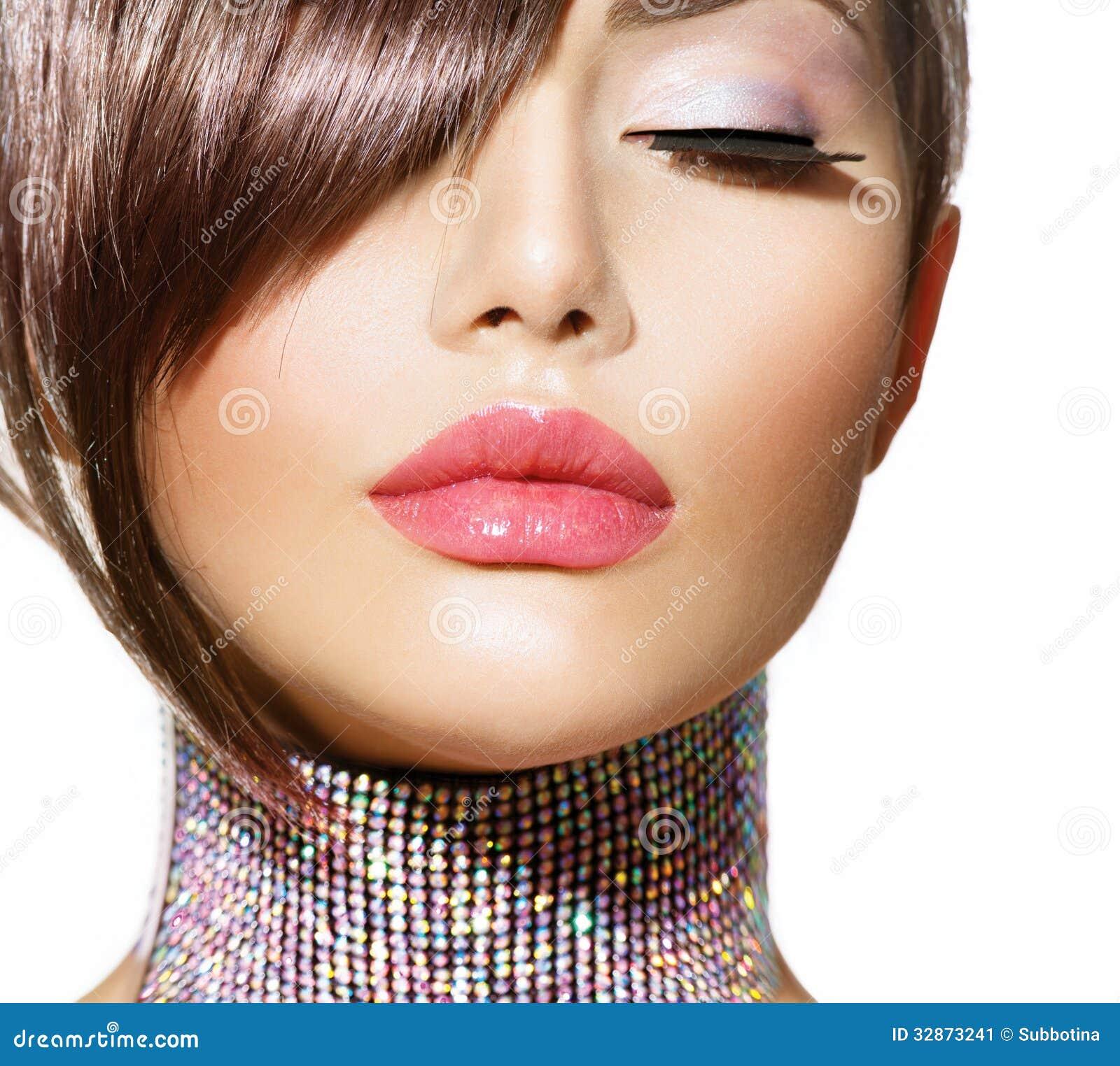 Peinado. Belleza Girl modelo