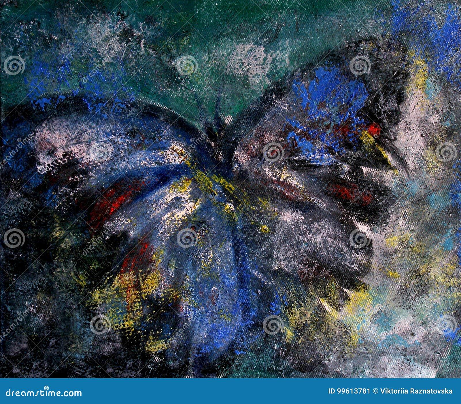 peinture l 39 huile abstraite de papillon illustration stock illustration du cr ateur insectes. Black Bedroom Furniture Sets. Home Design Ideas