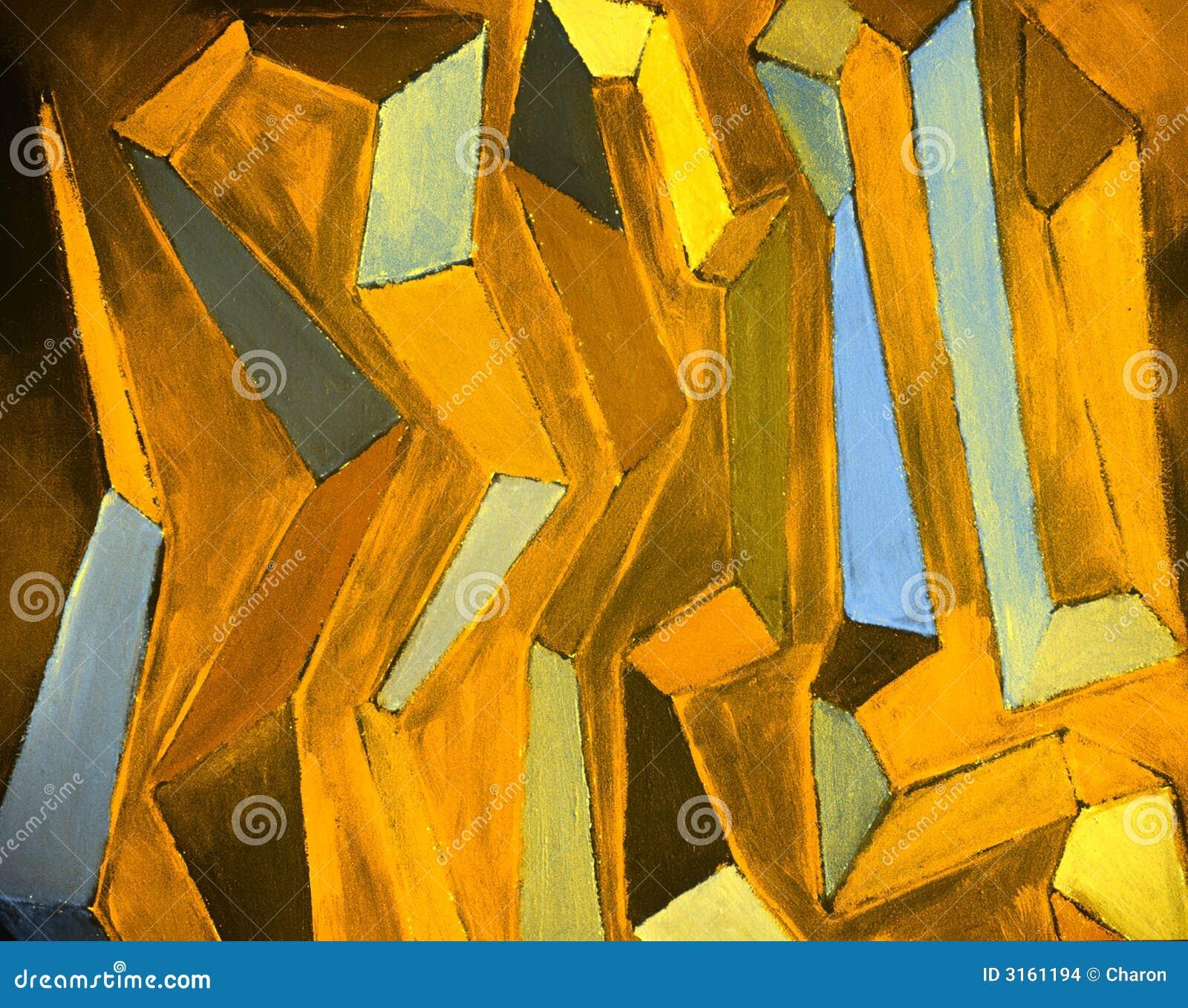 Peinture à l huile colorée abstraite