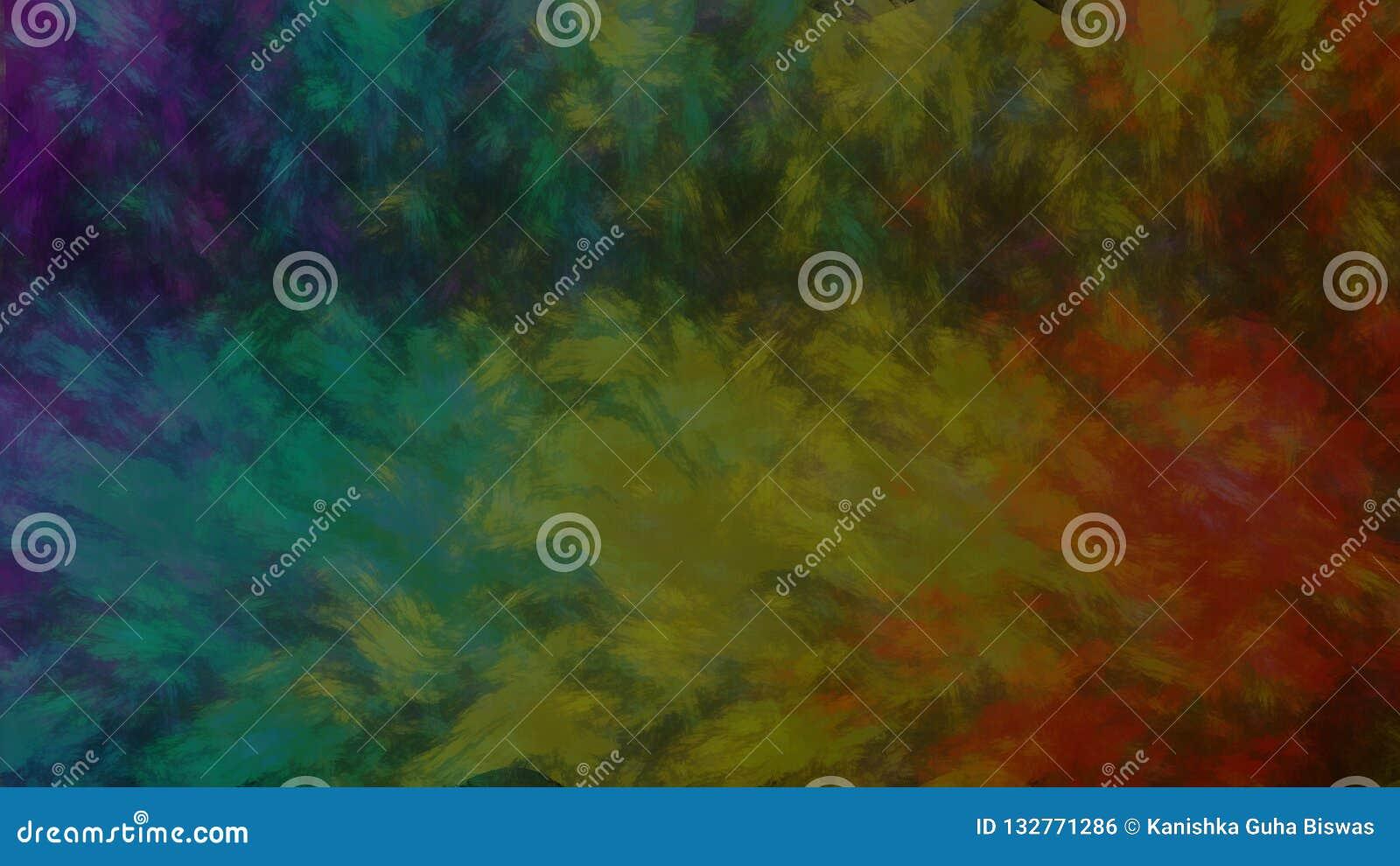 Peinture à l huile de toile de fond de série d arc-en-ciel