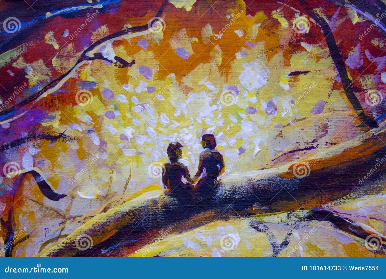 Peinture à Lhuile Originale Sur La Toile Peinture Colorée Art