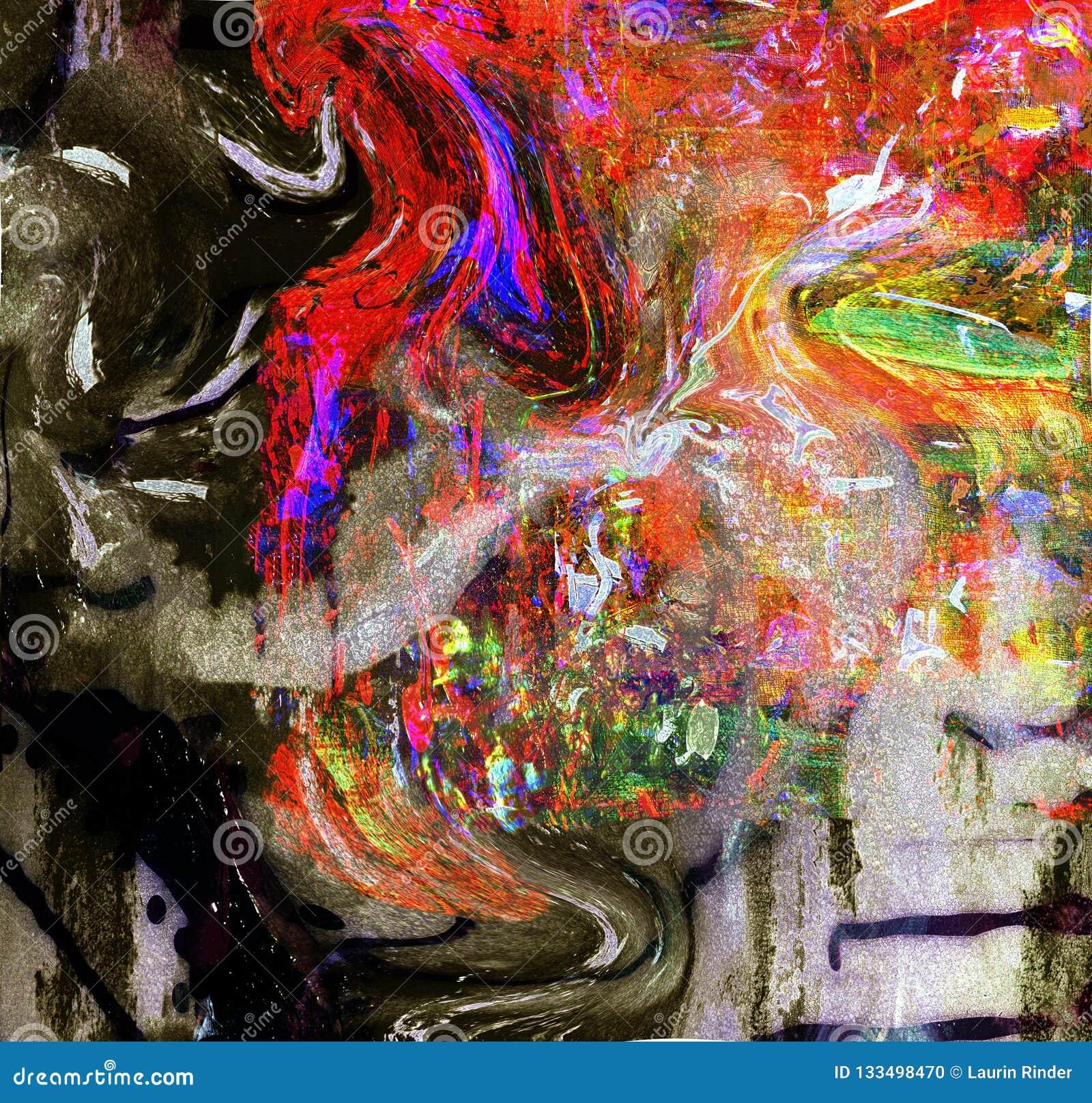 Peinture à L'huile Sur Le Verre Illustration