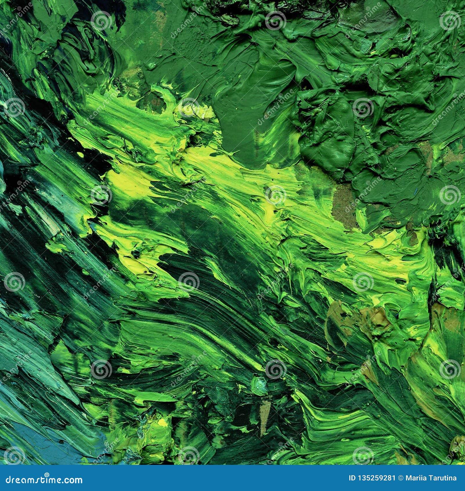 Peinture à l huile verte pour le fond