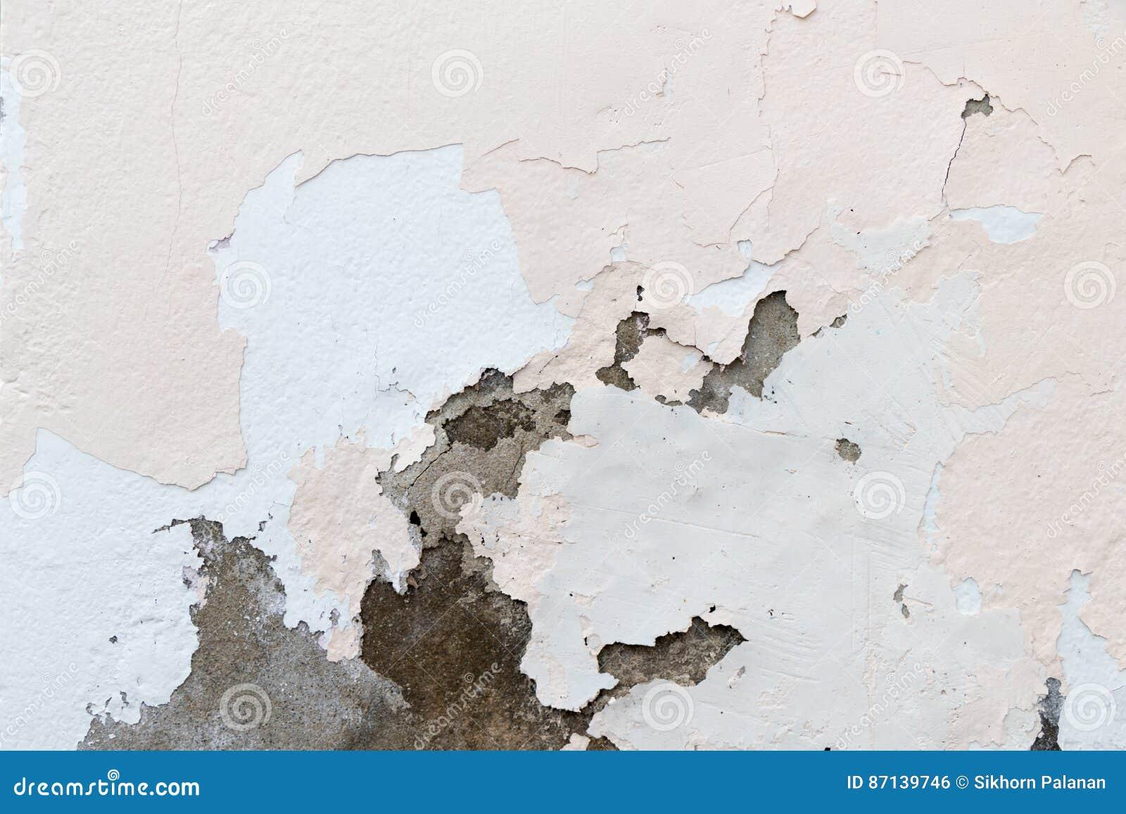 Peinture ébréchée Sur Un Vieux Mur De Plâtre Photo Stock Image Du