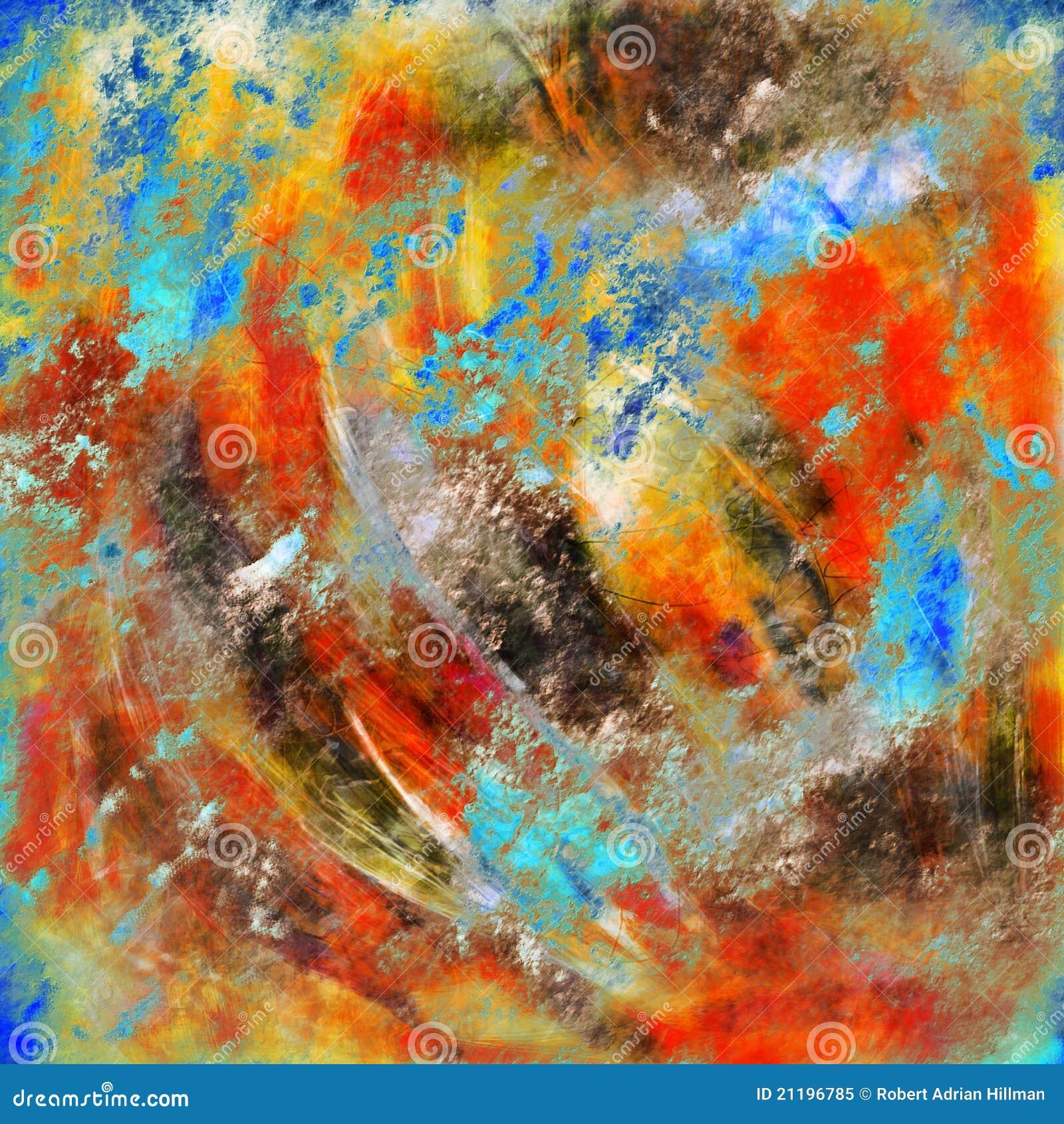 Peinture abstraite image stock image du orange bleu for Peintures abstraites