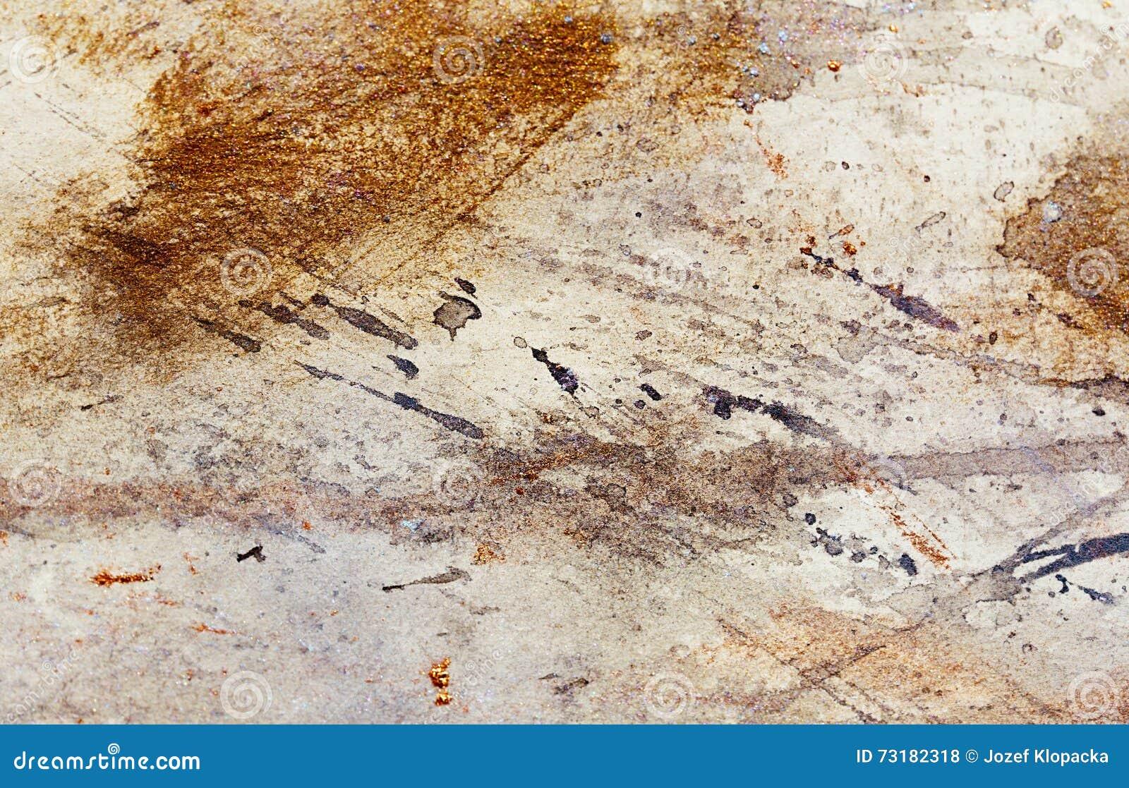 Peinture abstraite avec la structure trouble et souill e - Peinture avec effet texture ...