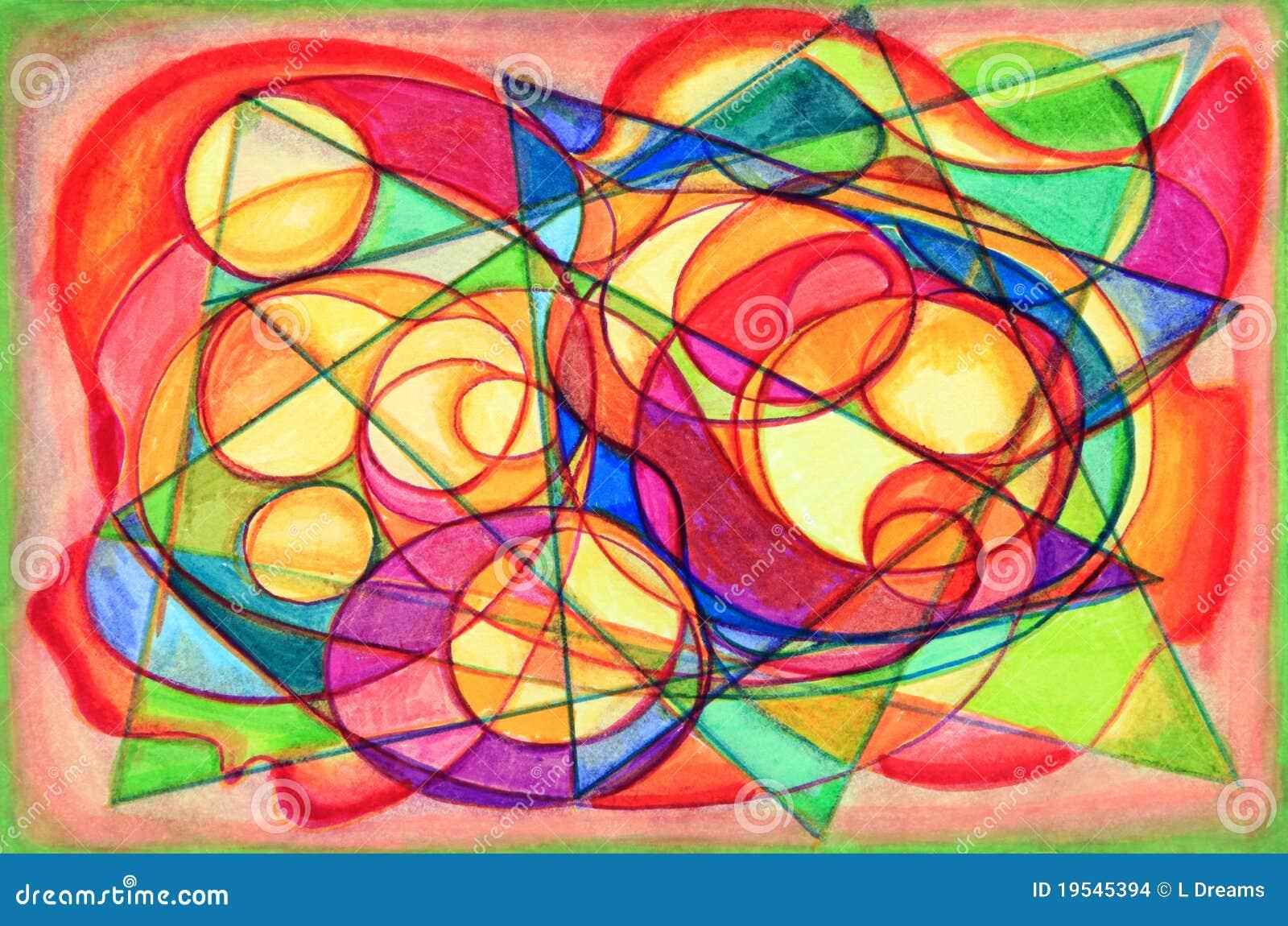 Peinture abstraite cubiste color e images stock image 19545394 - Peinture abstraite coloree ...