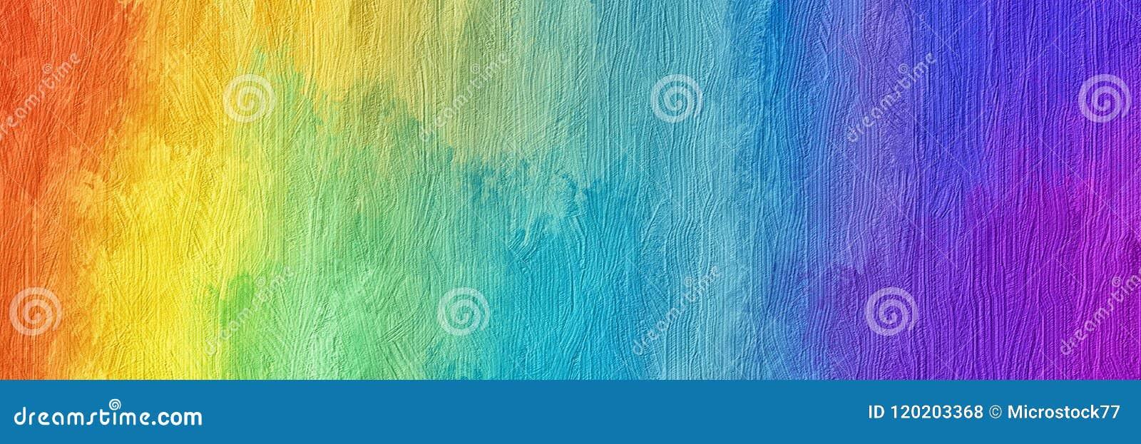 Peinture Abstraite D Arc En Ciel Illustration Stock