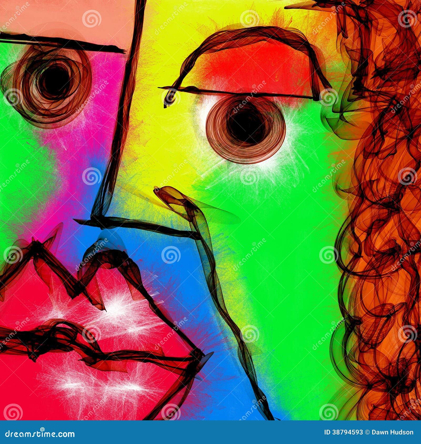 Extrêmement Peinture Abstraite De Visage Illustration Stock - Image: 38794593 XA23