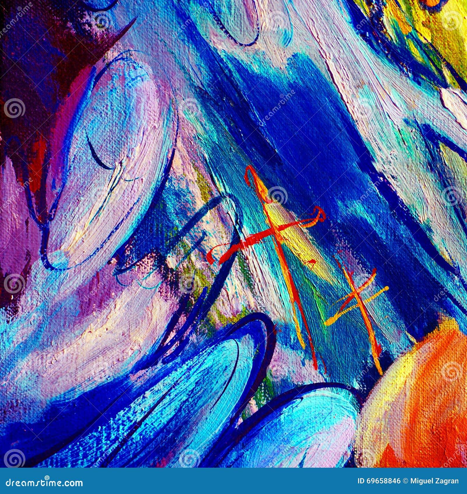 Peinture abstraite par l 39 huile sur la toile sur un th me de l 39 espace - Peinture a l huile abstraite ...