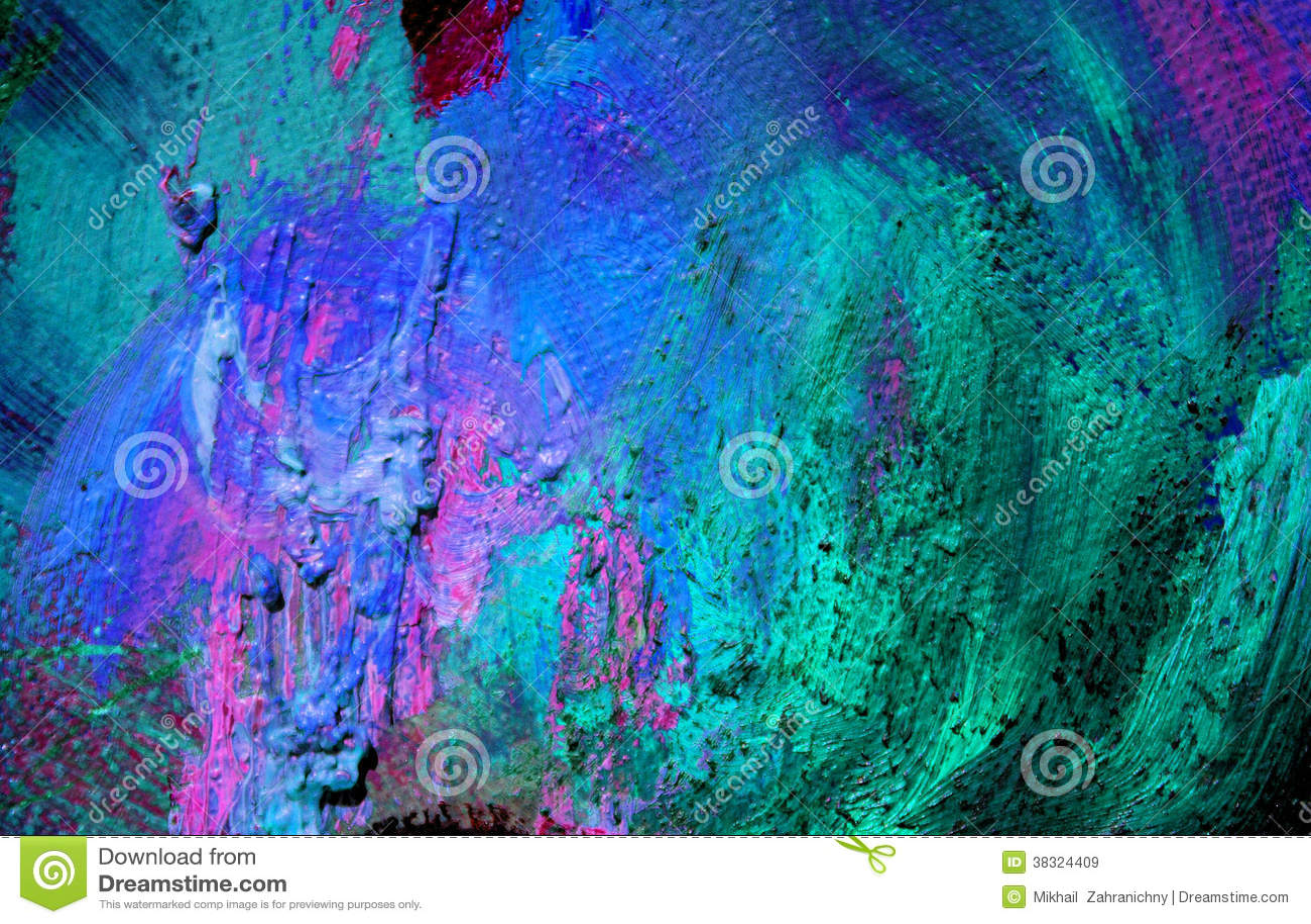 Peinture abstraite par l 39 huile sur une toile fond images libres de droit - Peinture a l huile abstraite ...
