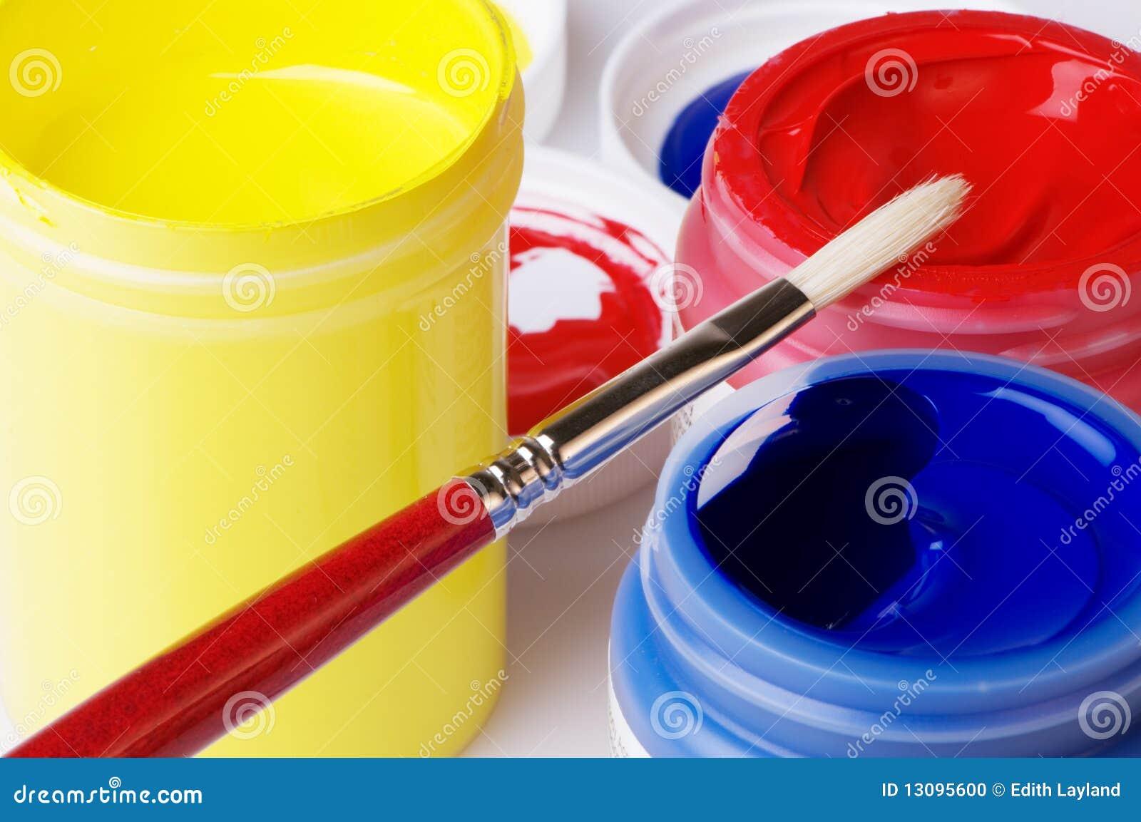 Lino Salle De Bain Saint Maclou : Peinture Acrylique Dartiste De Couleur Primaire Photo stock  Image