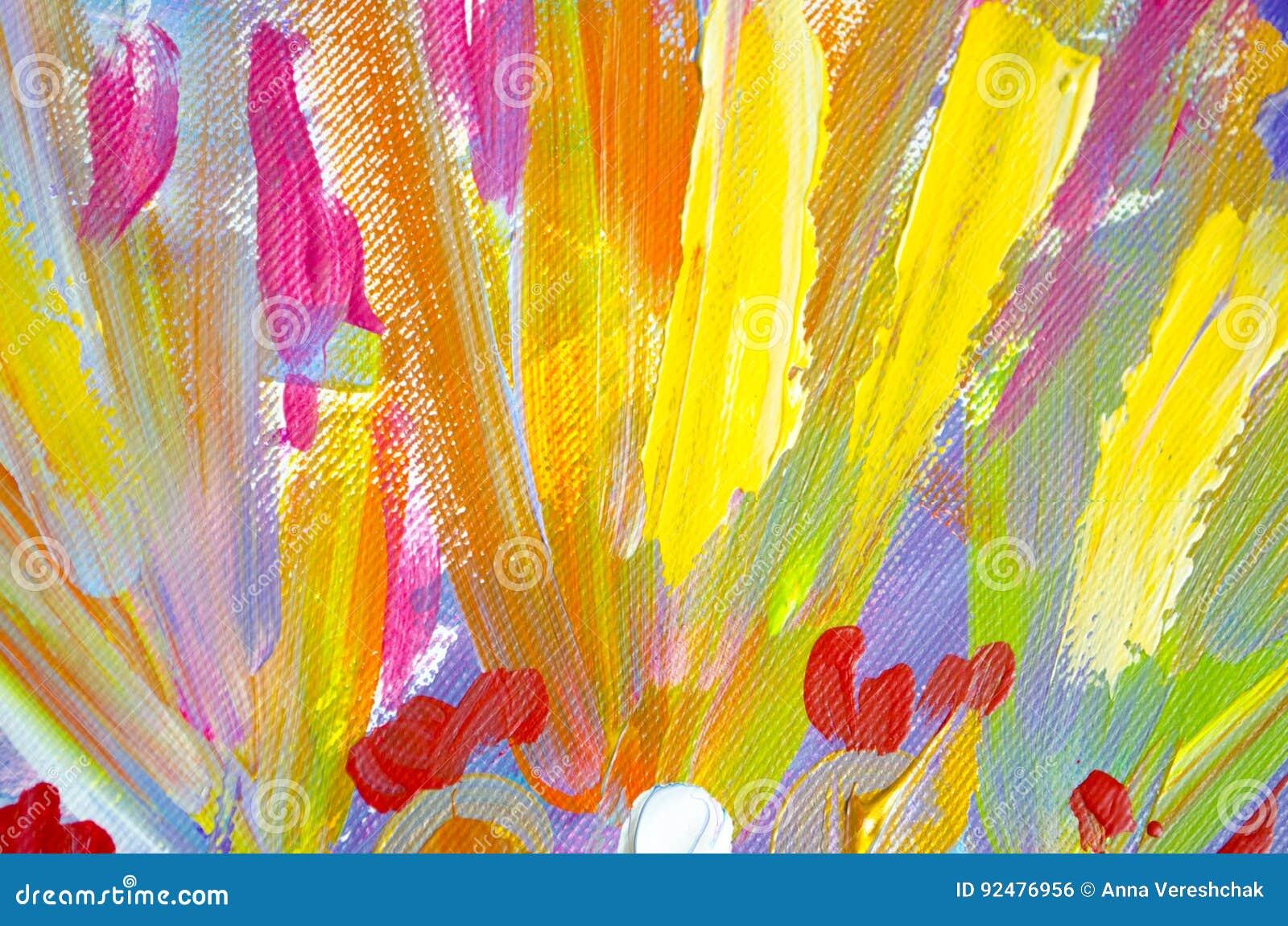 Peinture Acrylique Tirée Par La Main Fond Dart Abstrait Peinture