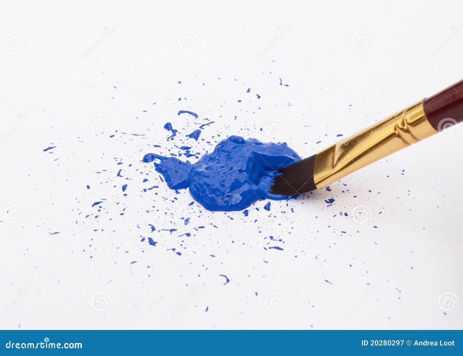 peinture bleue photographie stock libre de droits image 20280297. Black Bedroom Furniture Sets. Home Design Ideas