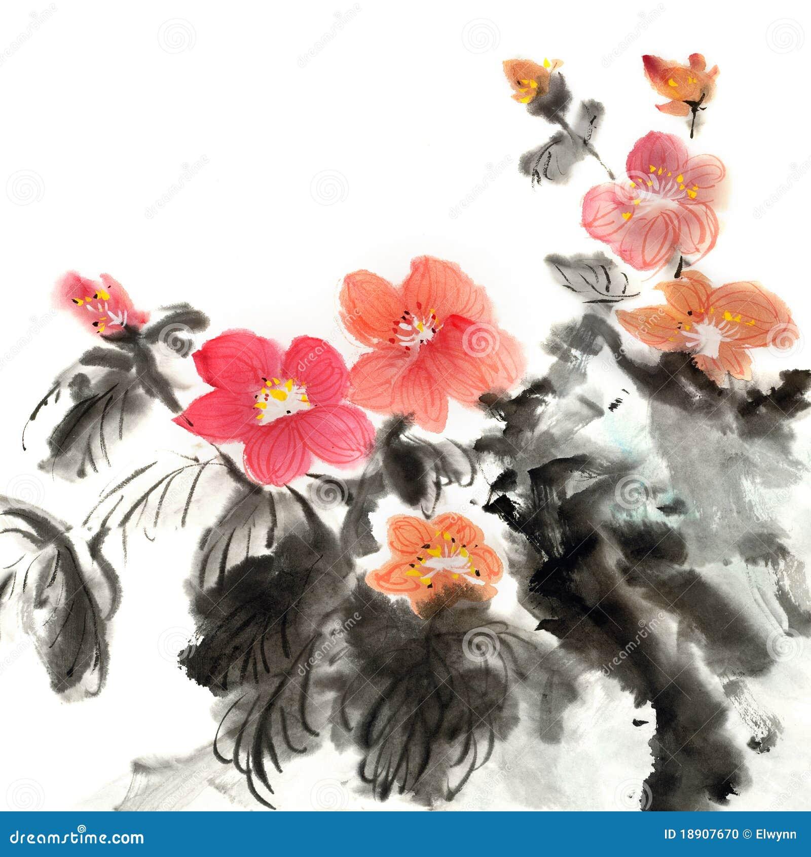 Peinture chinoise colorée