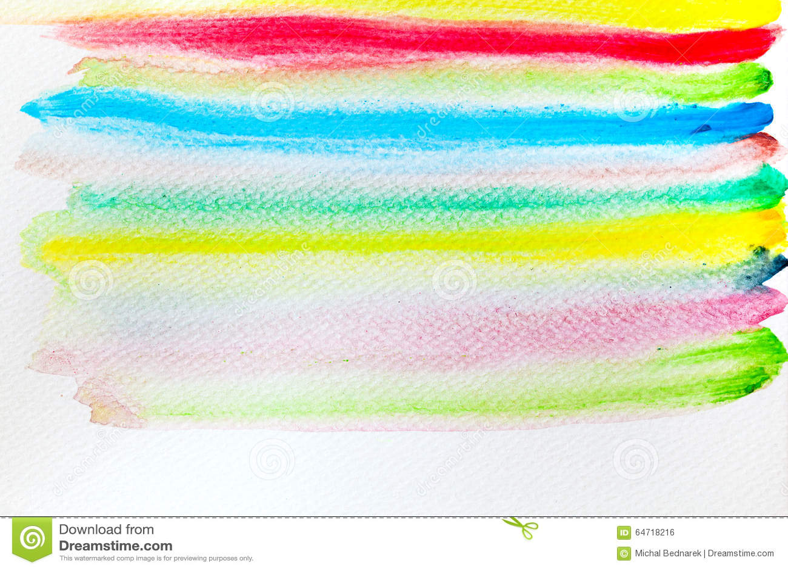 Peinture colorée d aquarelle de rayures sur la toile Haut resoluti superbe