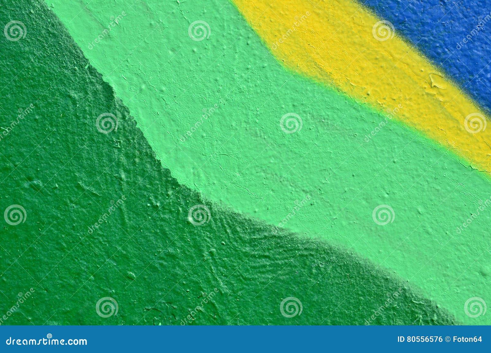 Peinture colorée sur le mur