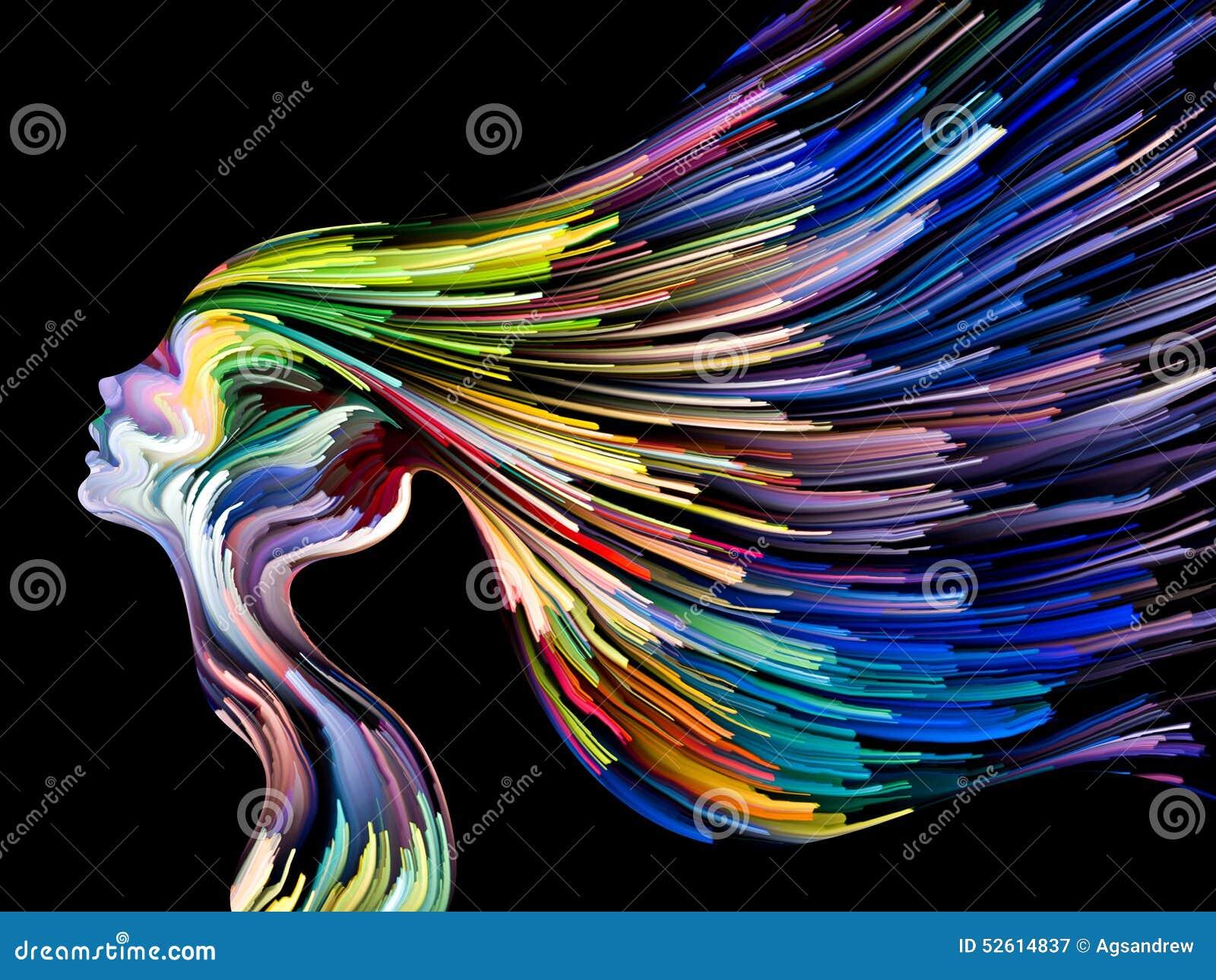 Peinture conceptuelle d 39 esprit illustration stock image for Peinture conceptuelle