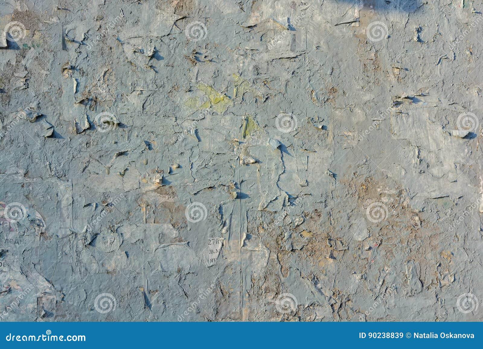 Peinture Criquée Grise Sur La Vieille Surface De Mur De Plâtre Image