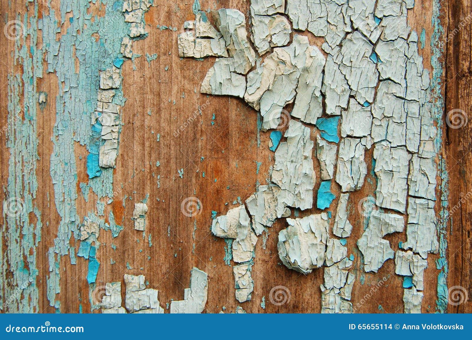 Peinture criqu e sur un mur en bois mur des planches en bois avec des traces de peinture photo - Droit locataire peinture murs ...