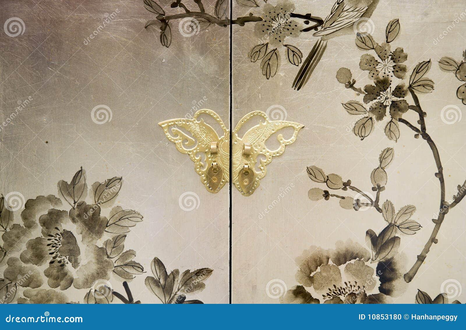 Peinture d corative sur des meubles photo stock image - Peinture decorative meuble ...
