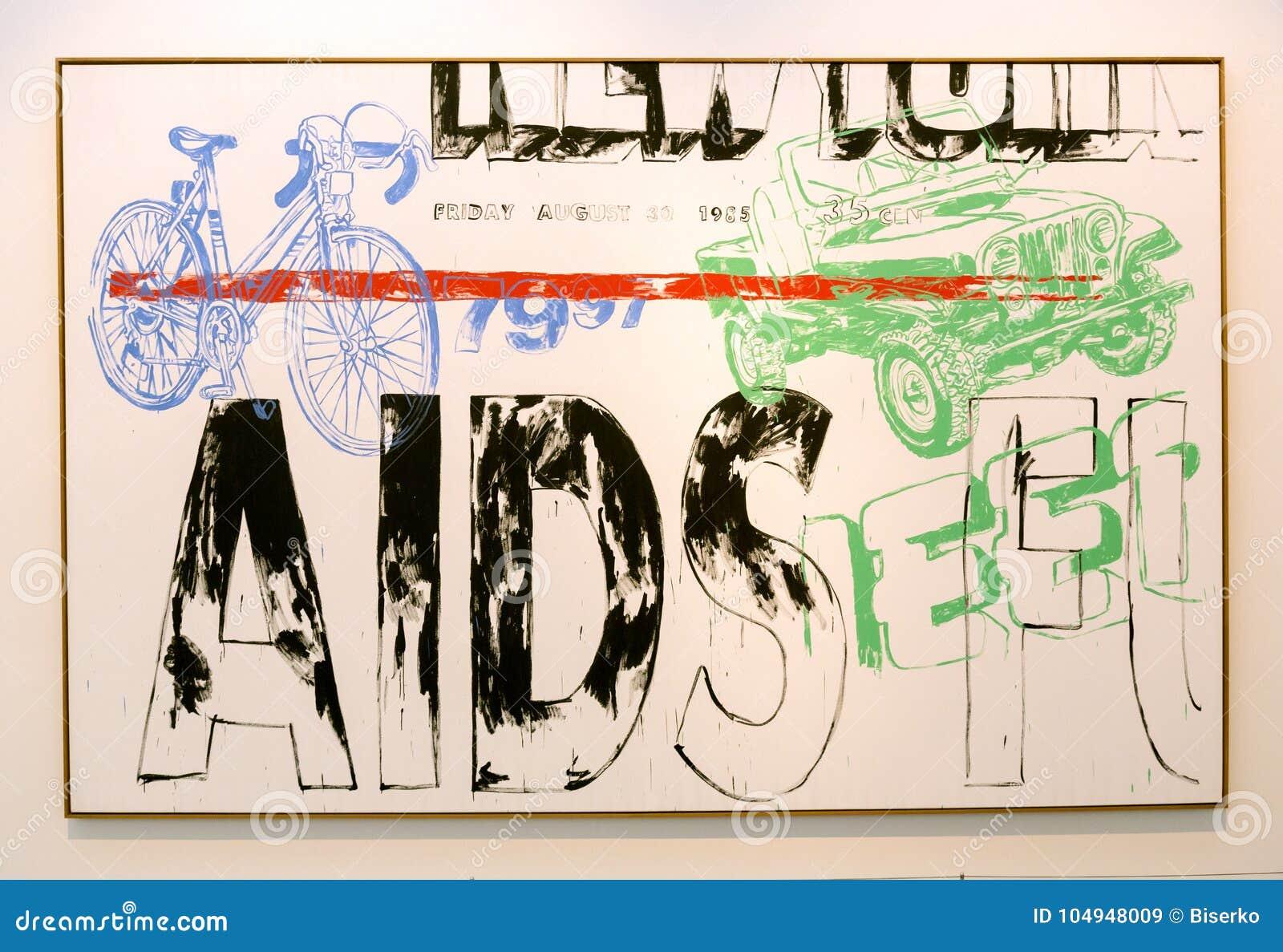 Peinture D Andy Warhol Dans Le Der De Pinakothek Moderne A Munich Image Stock Editorial Image Du Peinture Munich 104948009