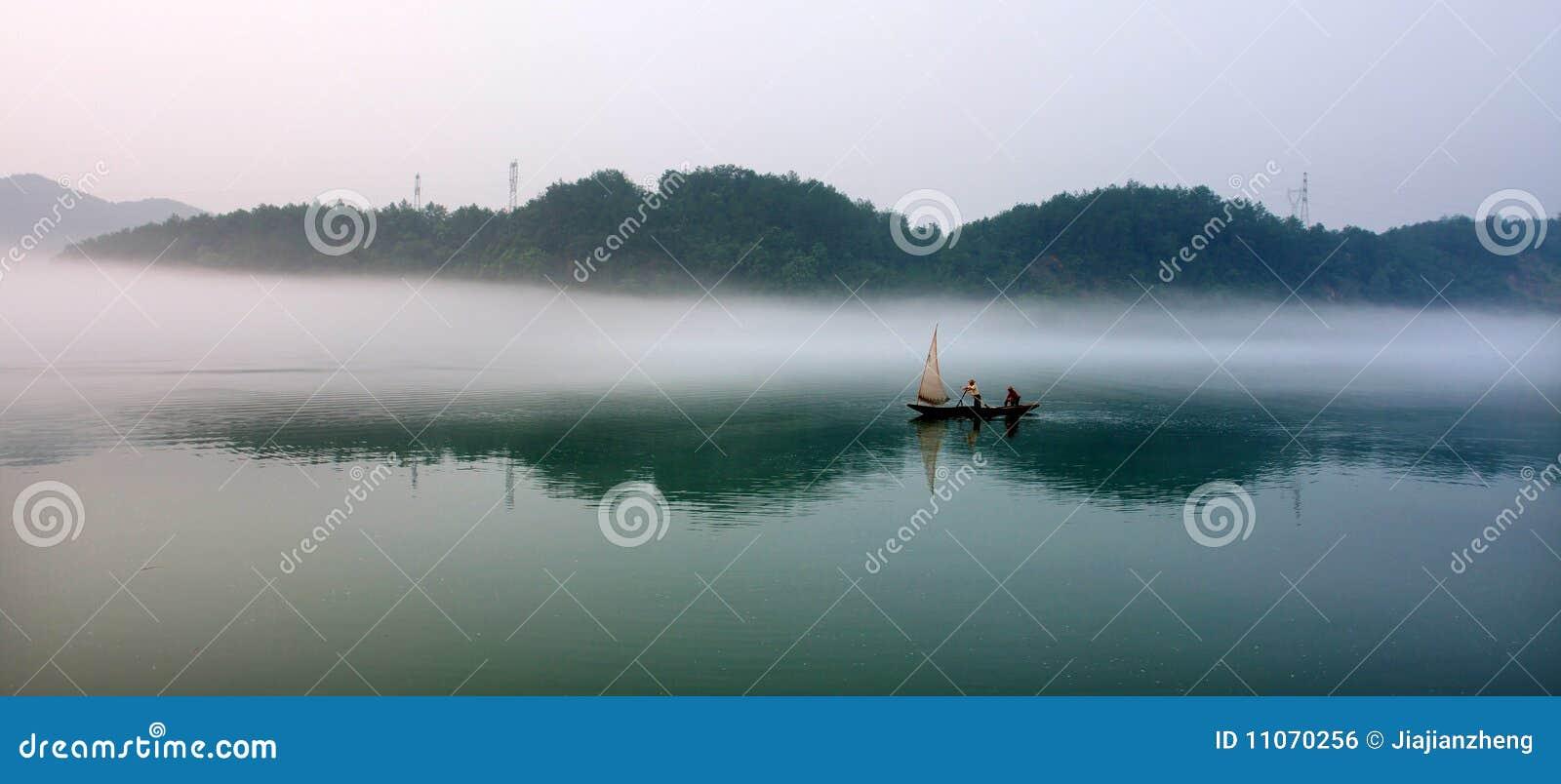 Peinture d horizontal chinoise