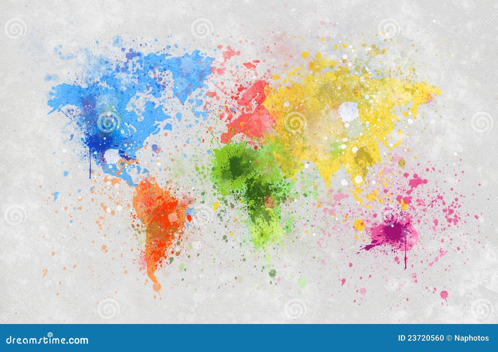 Peinture de carte du monde