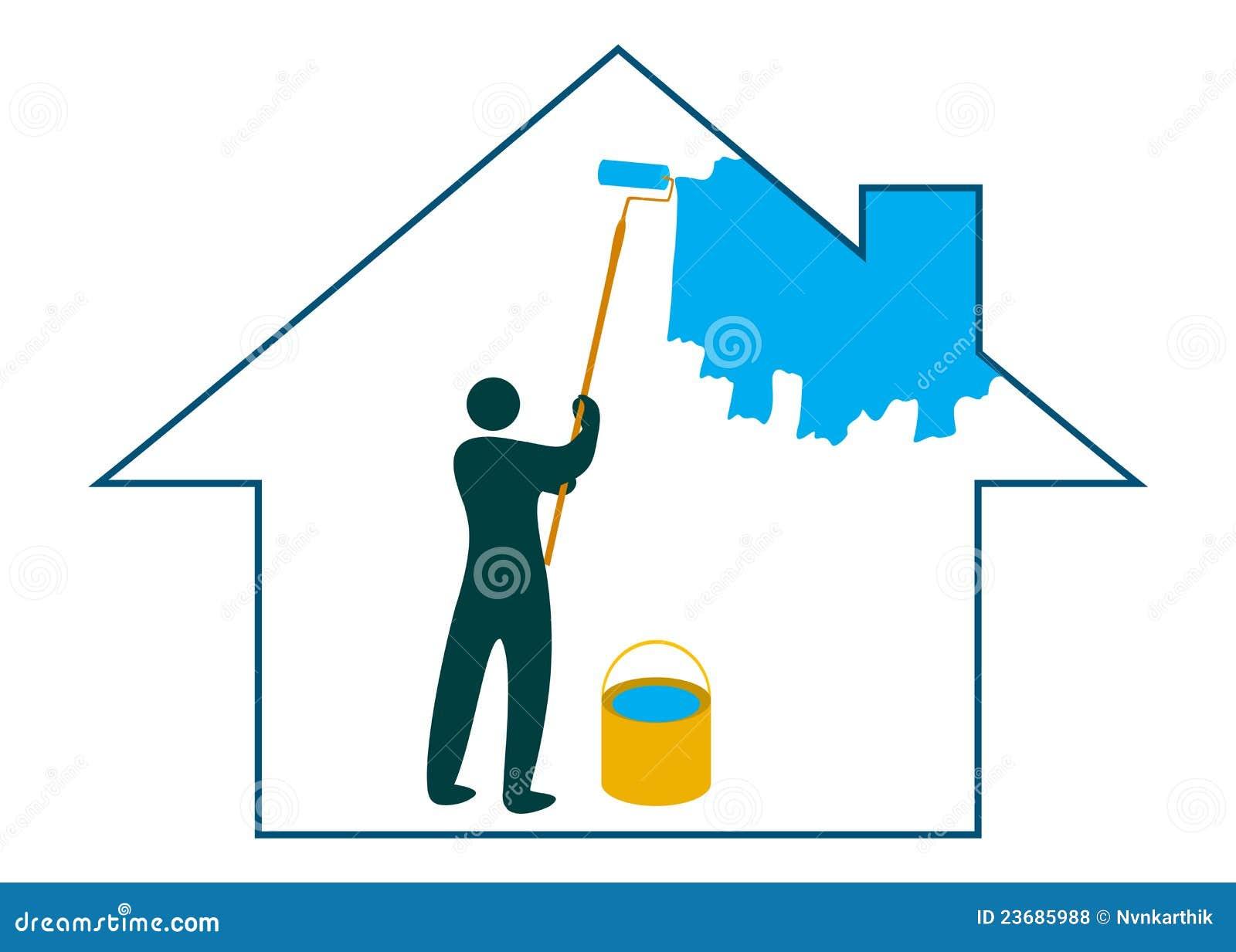 Peinture de la maison photos libres de droits image 23685988 for Peinture de la maison