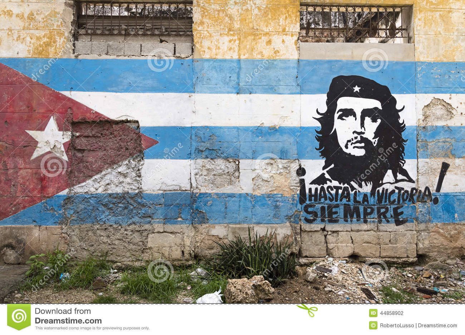 Peinture de mur de Che Guevara à La Havane, Cuba