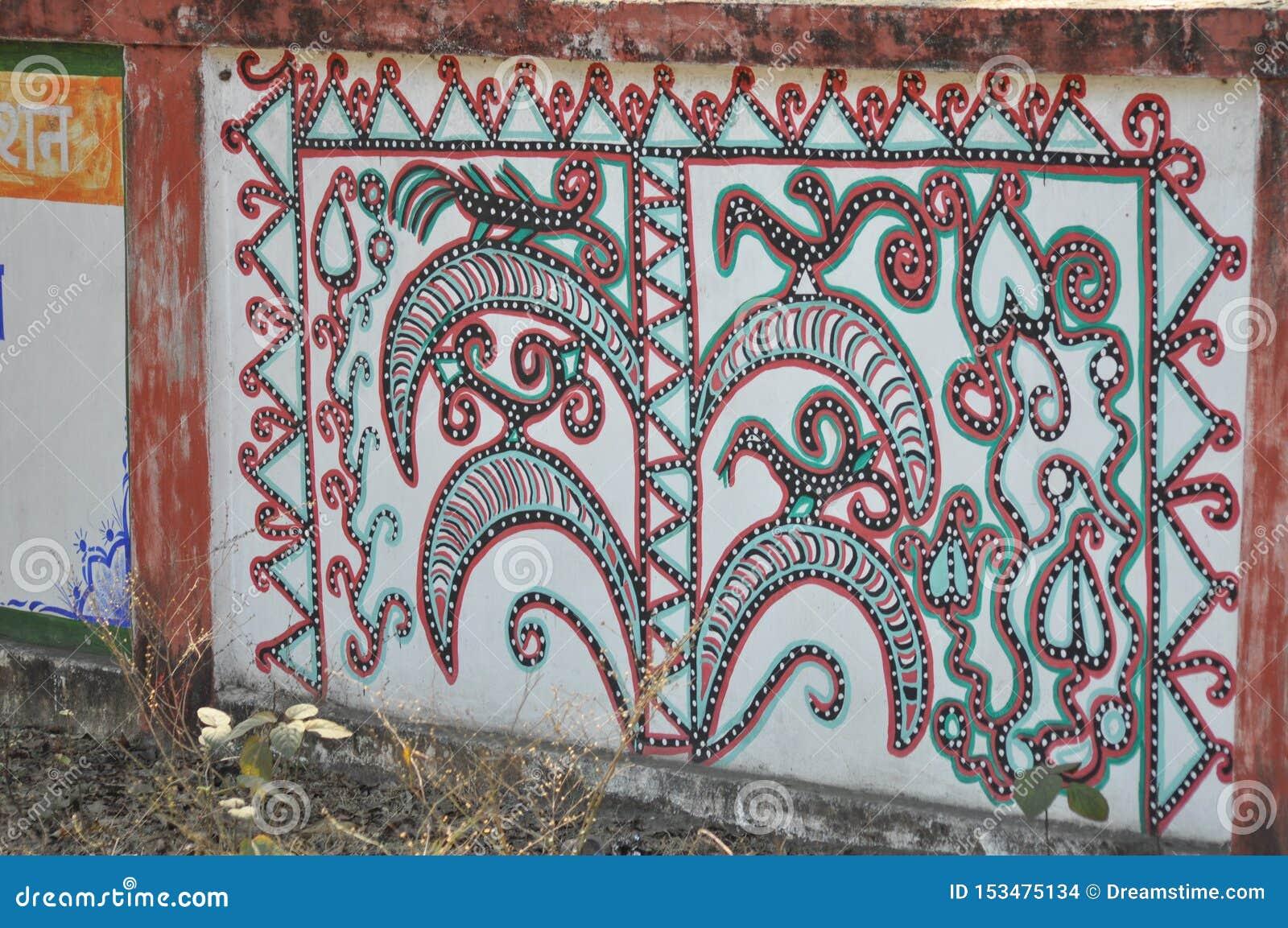 Peinture de mur sur la route
