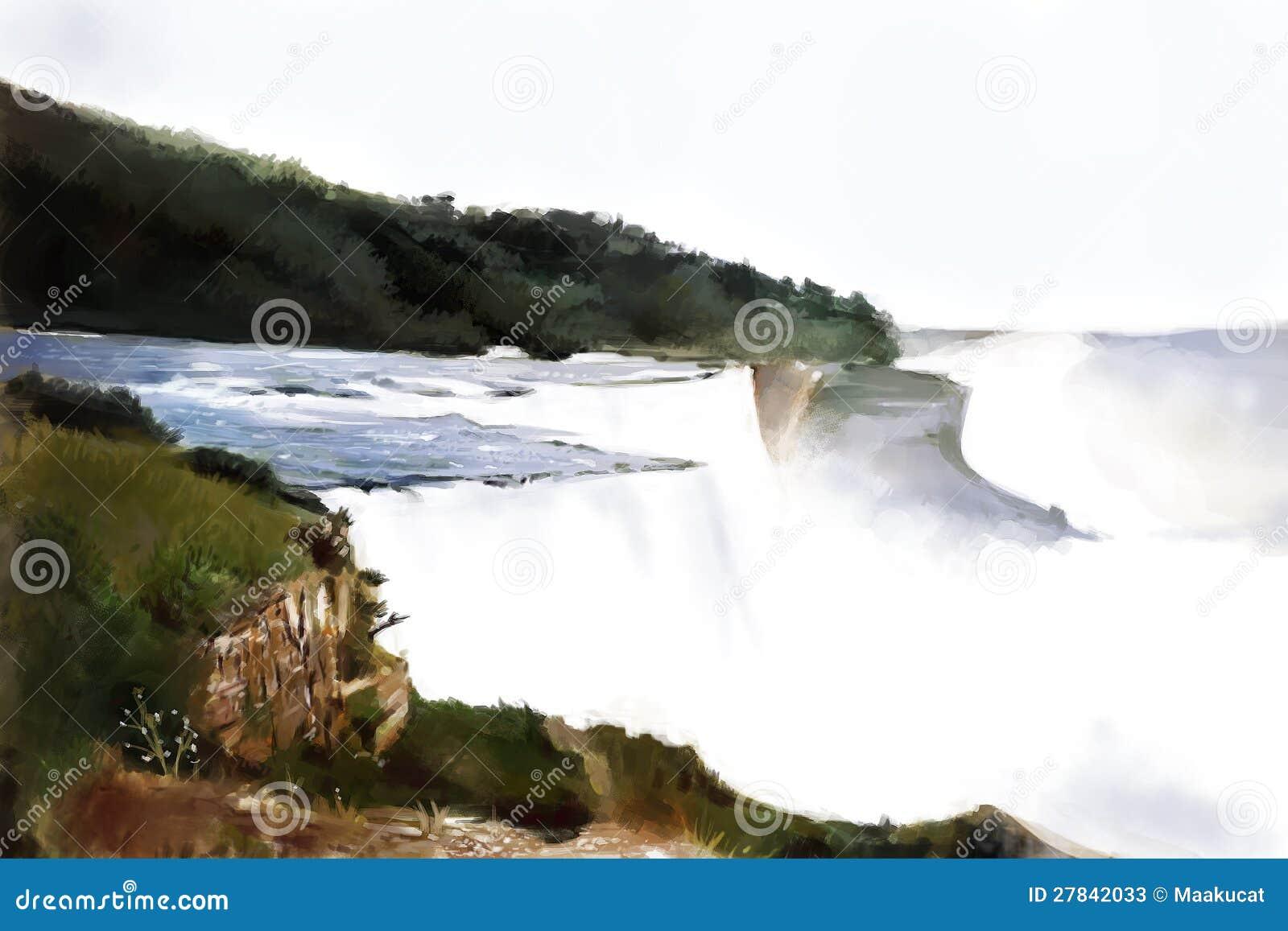 Peinture de Niagara Falls