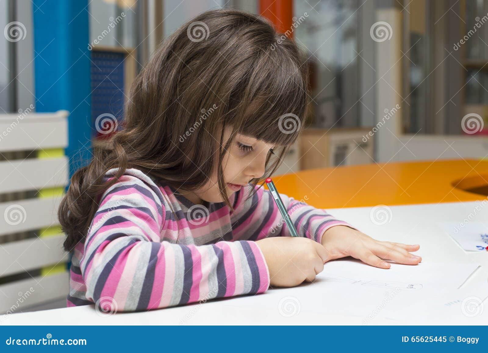 Peinture de petite fille