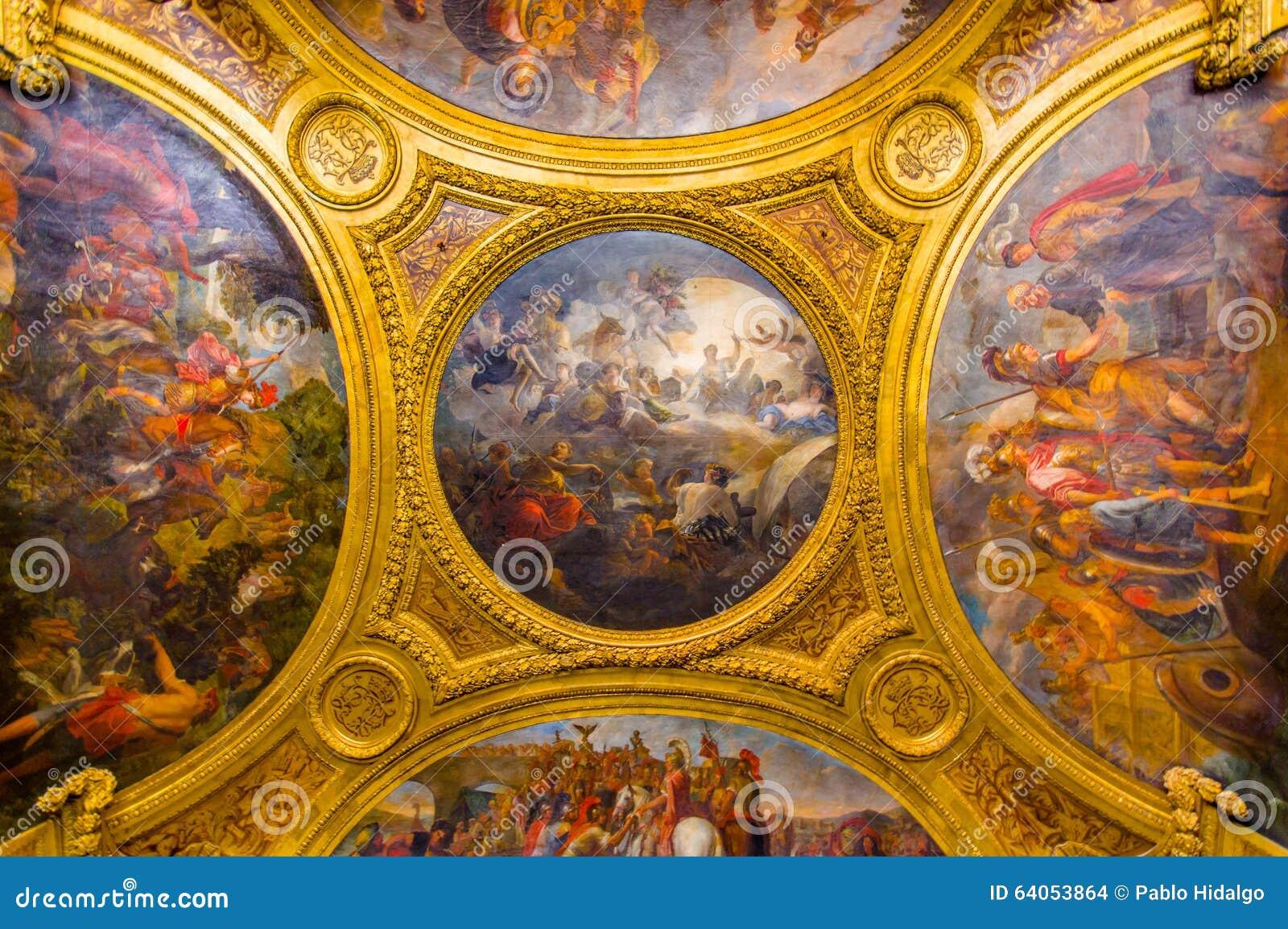 Peinture de plafond en Salon de Diane, palais de