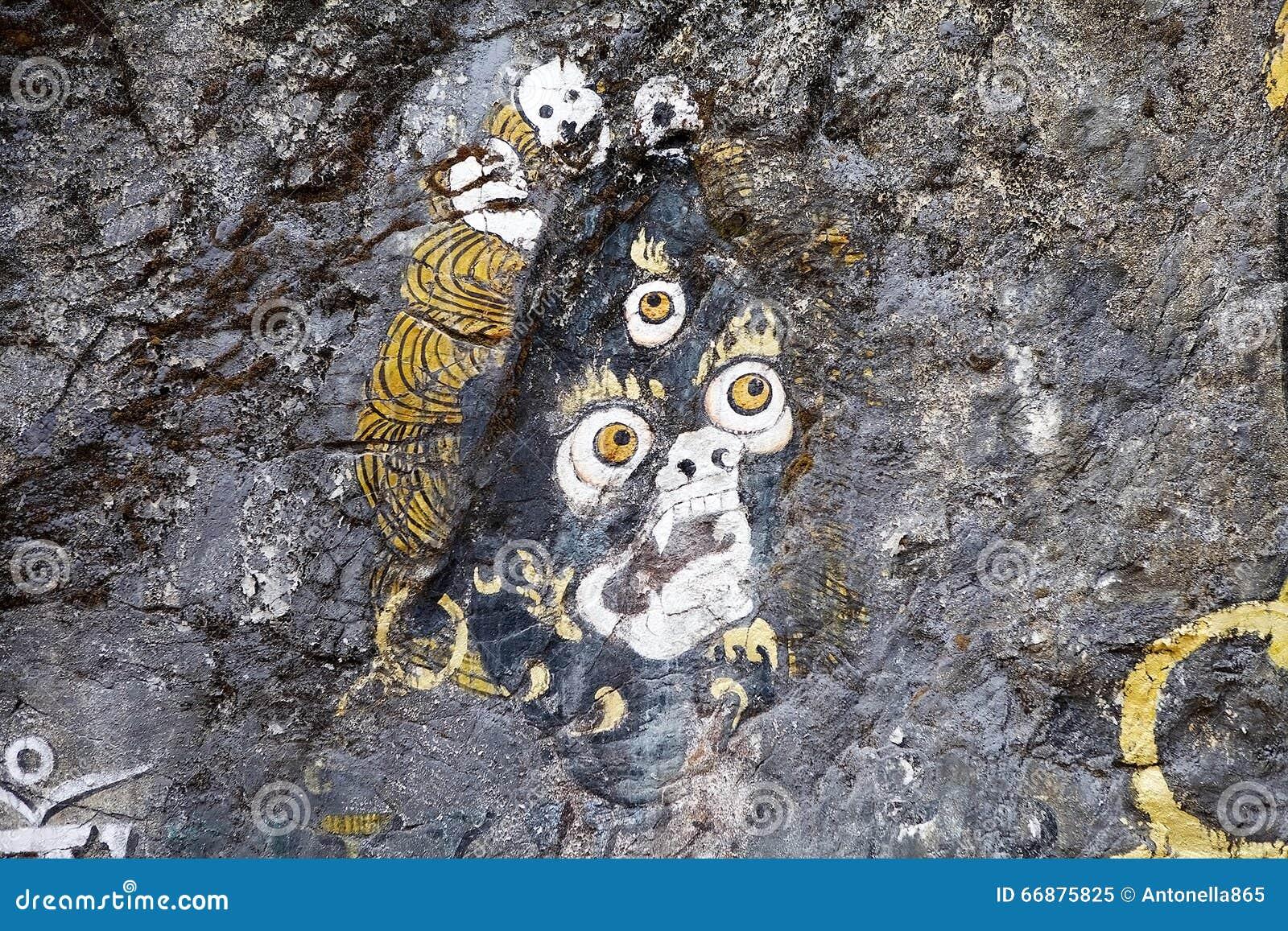 Peinture de roche, Bhutan