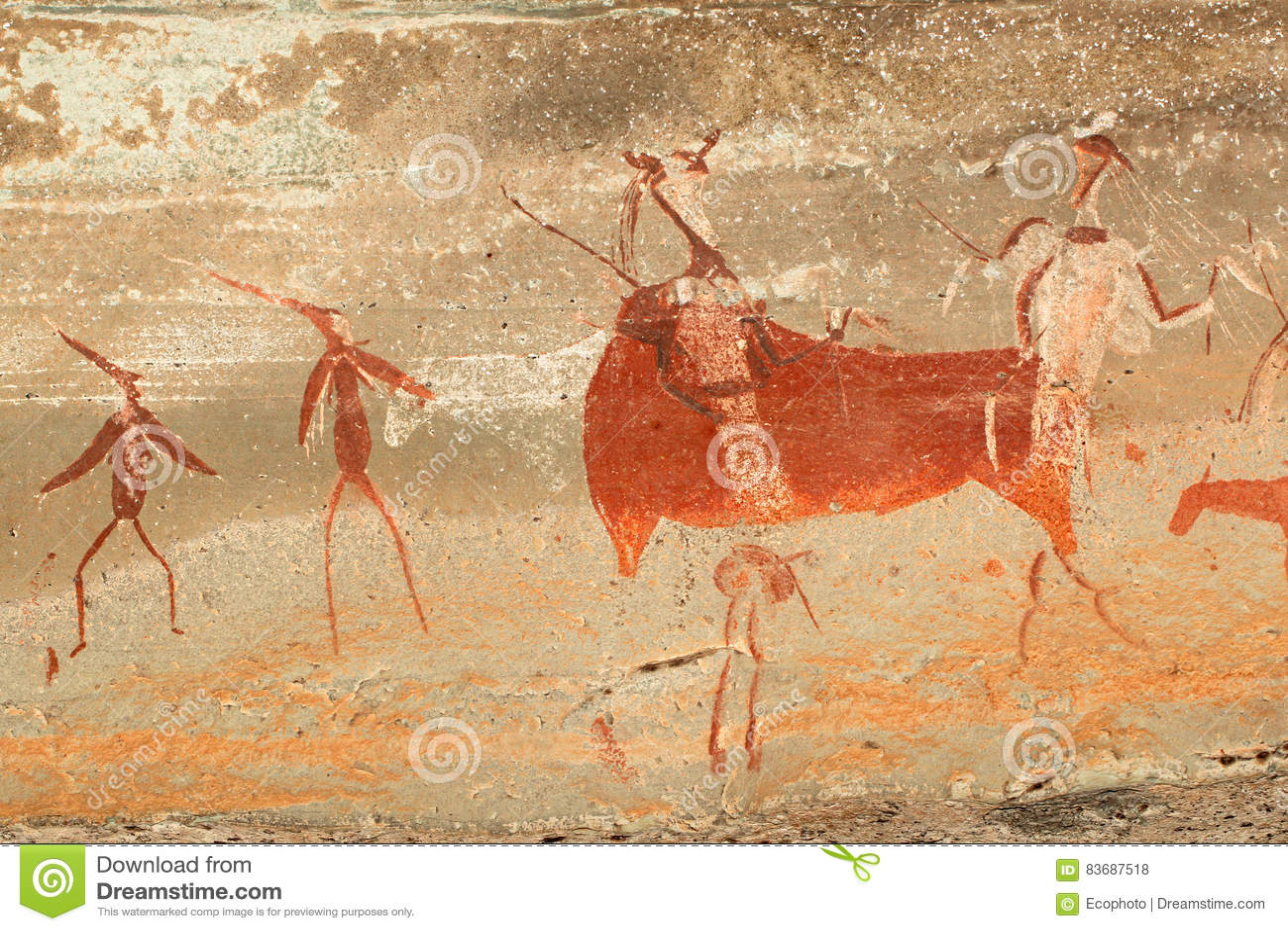 Peinture de roche de débroussailleurs