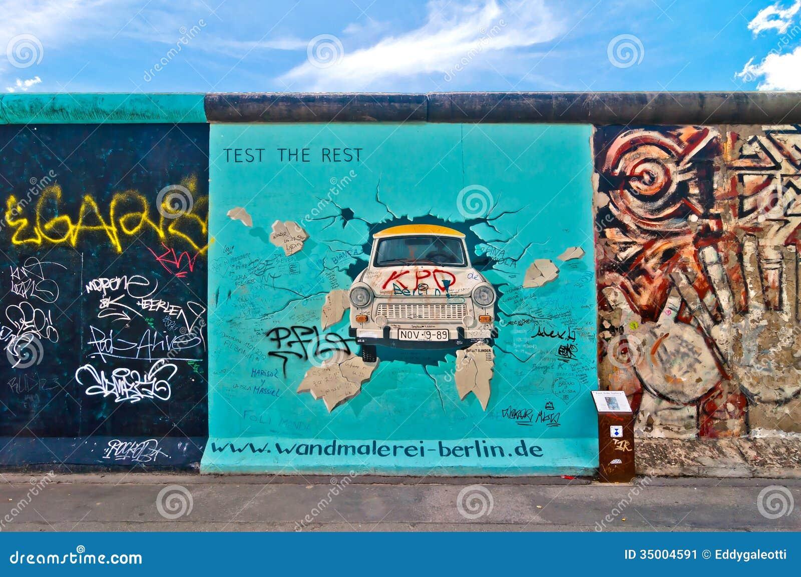 Peinture de Trabant de Birgit Kinder sur Berlin Wall dans la galerie de côté est, Berlin