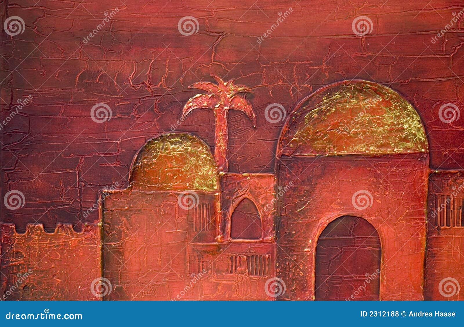 Peinture de ville orientale photos libres de droits image 2312188 for Dessin ville orientale