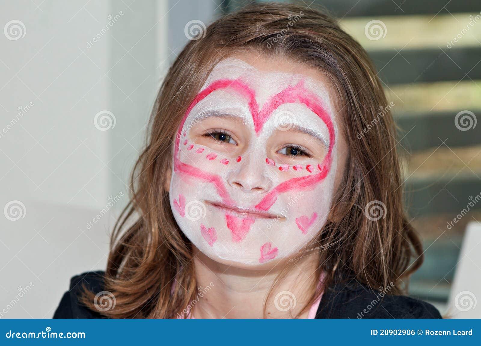 Peinture de visage de coeur image libre de droits image 20902906 - Peinture sur visage ...