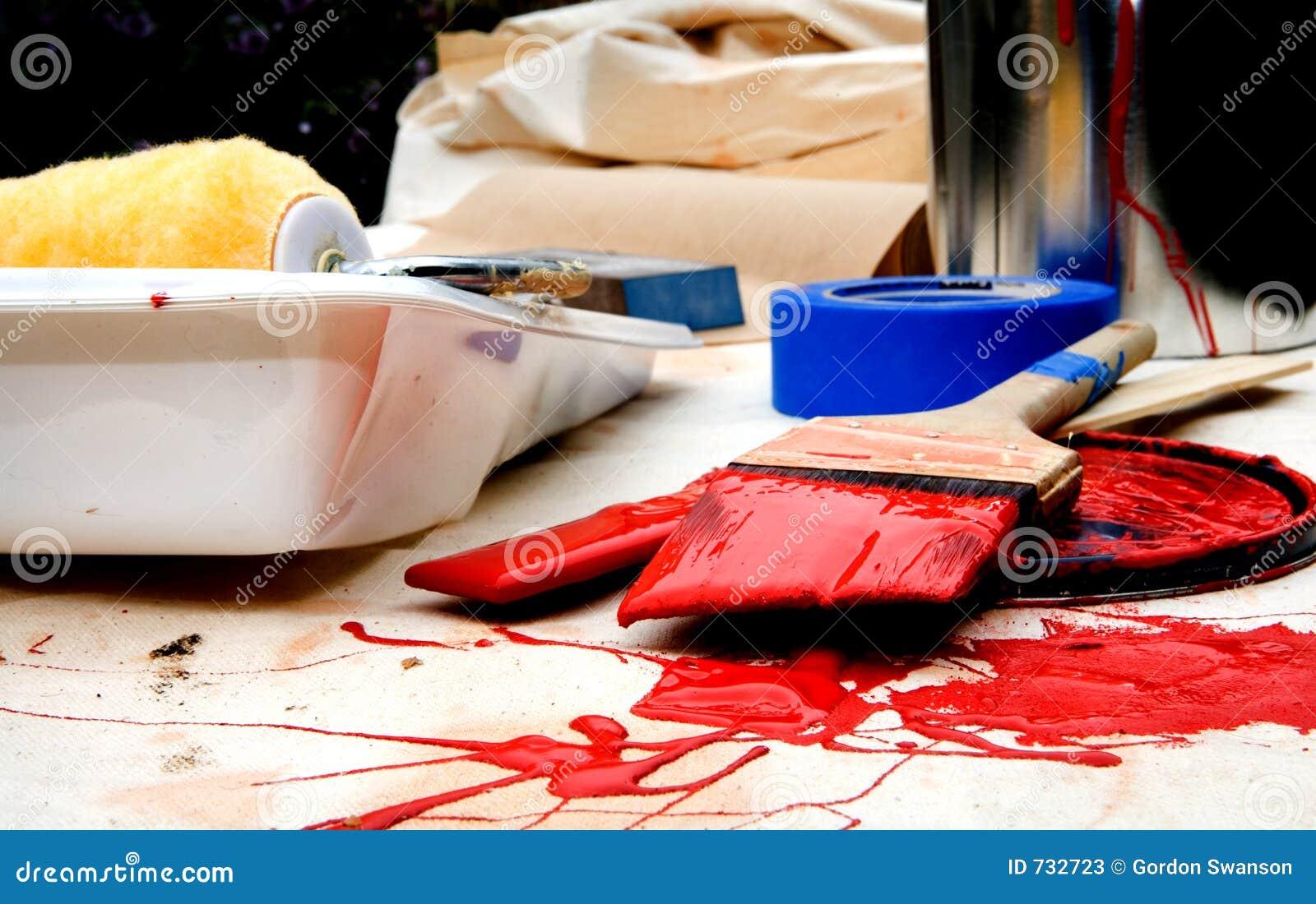 Peinture en rouge