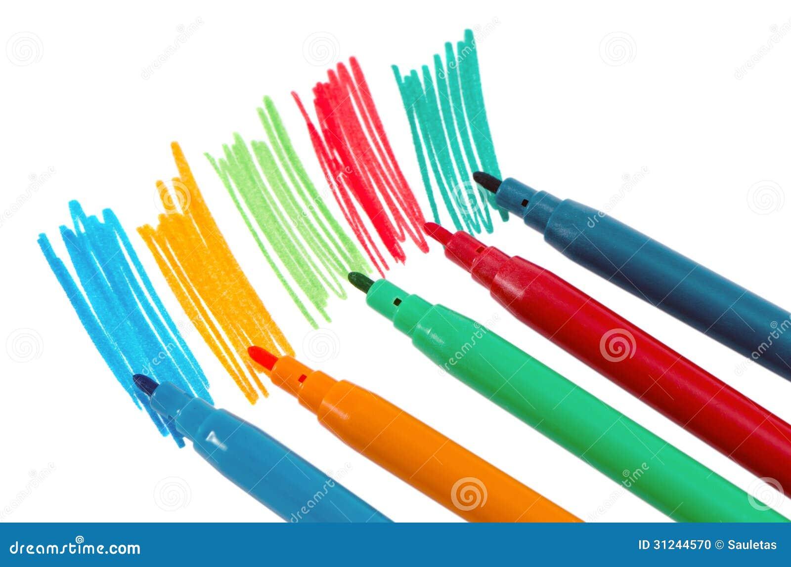 peinture feutre de stylo de couleur d 39 aspiration de main d. Black Bedroom Furniture Sets. Home Design Ideas