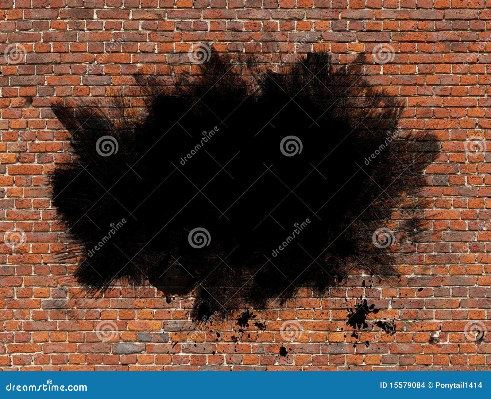 peinture grunge sur le mur de briques images stock image 15579084. Black Bedroom Furniture Sets. Home Design Ideas