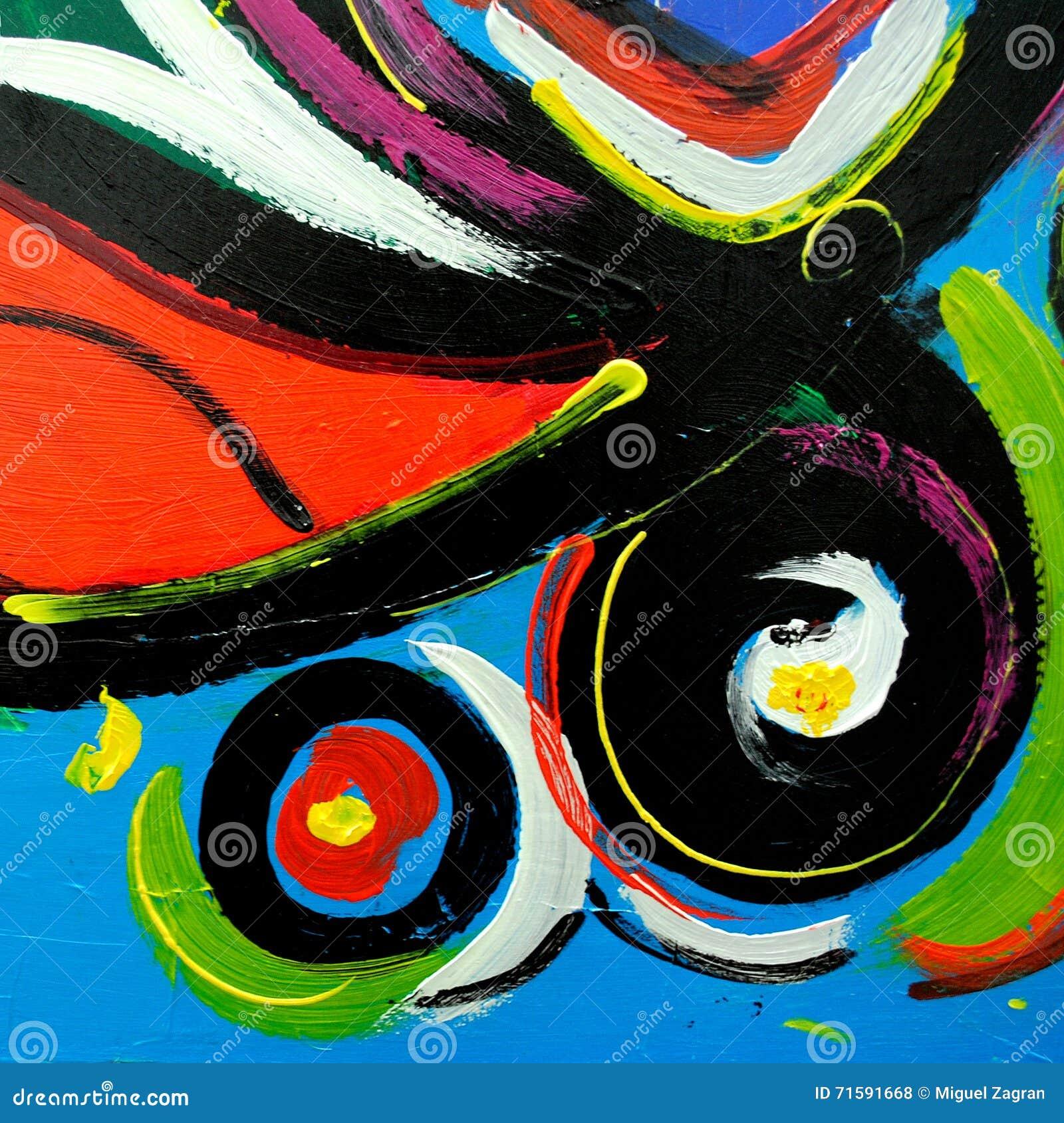 Peinture Moderne Abstraite Par Lhuile Sur La Toile Pour Lintérieur