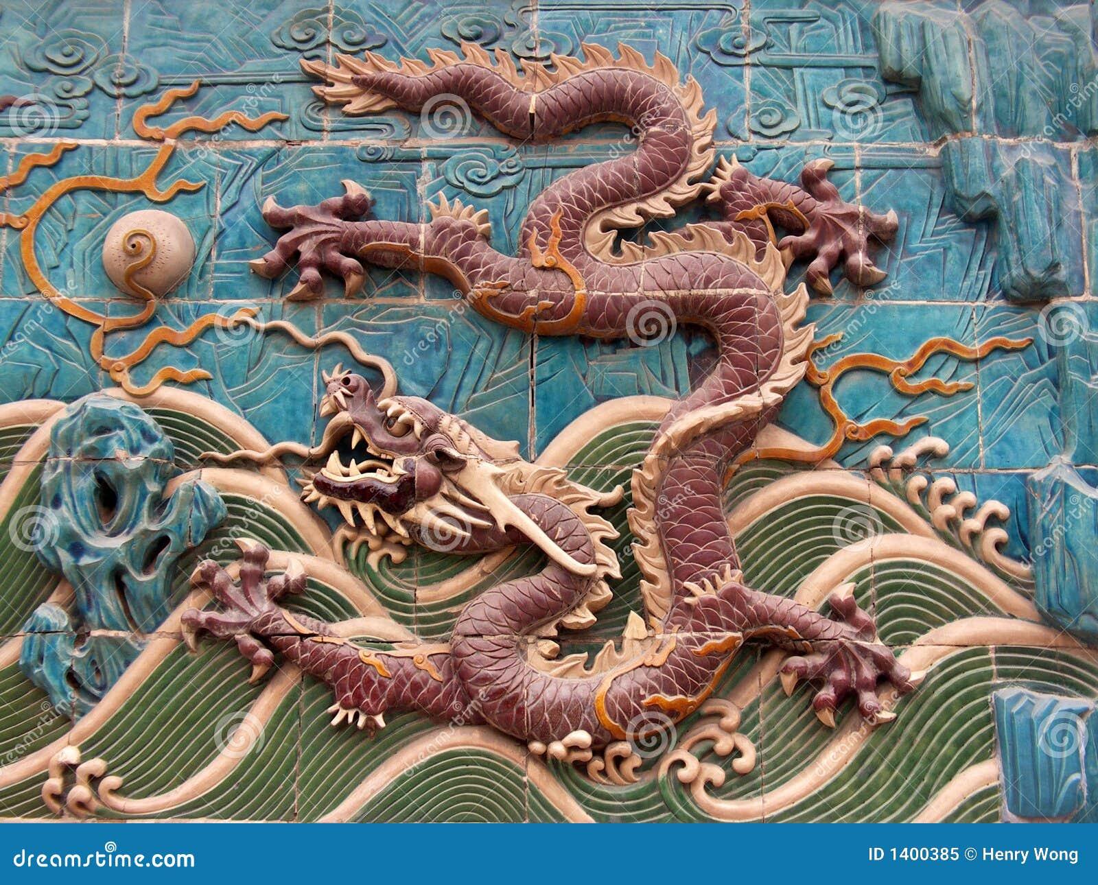 Peinture murale 6 de dragon