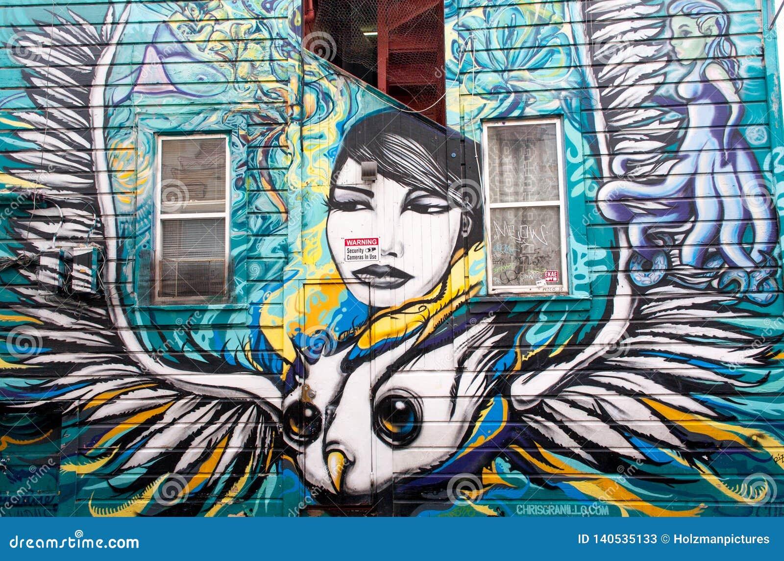 Peinture Murale D Art De Rue Dans Le Secteur De Mission San