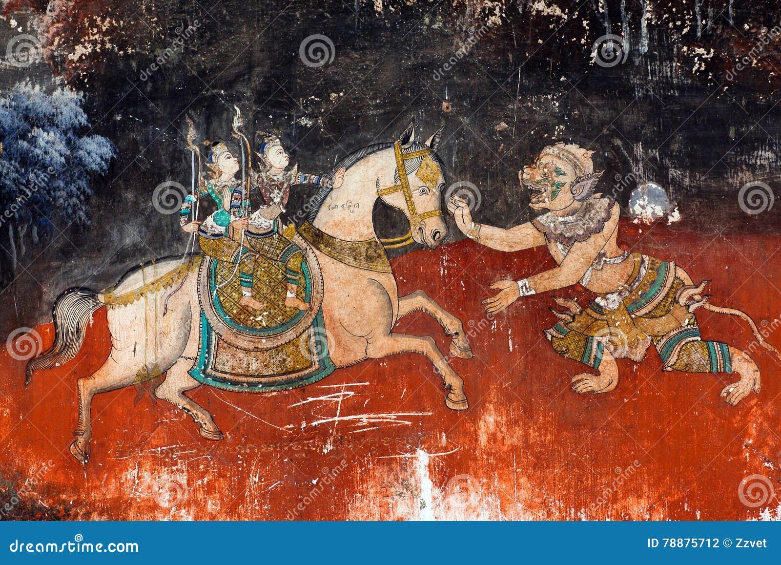 Peinture murale dans le palais royal dans phnom penh for Les differents types de peintures murales