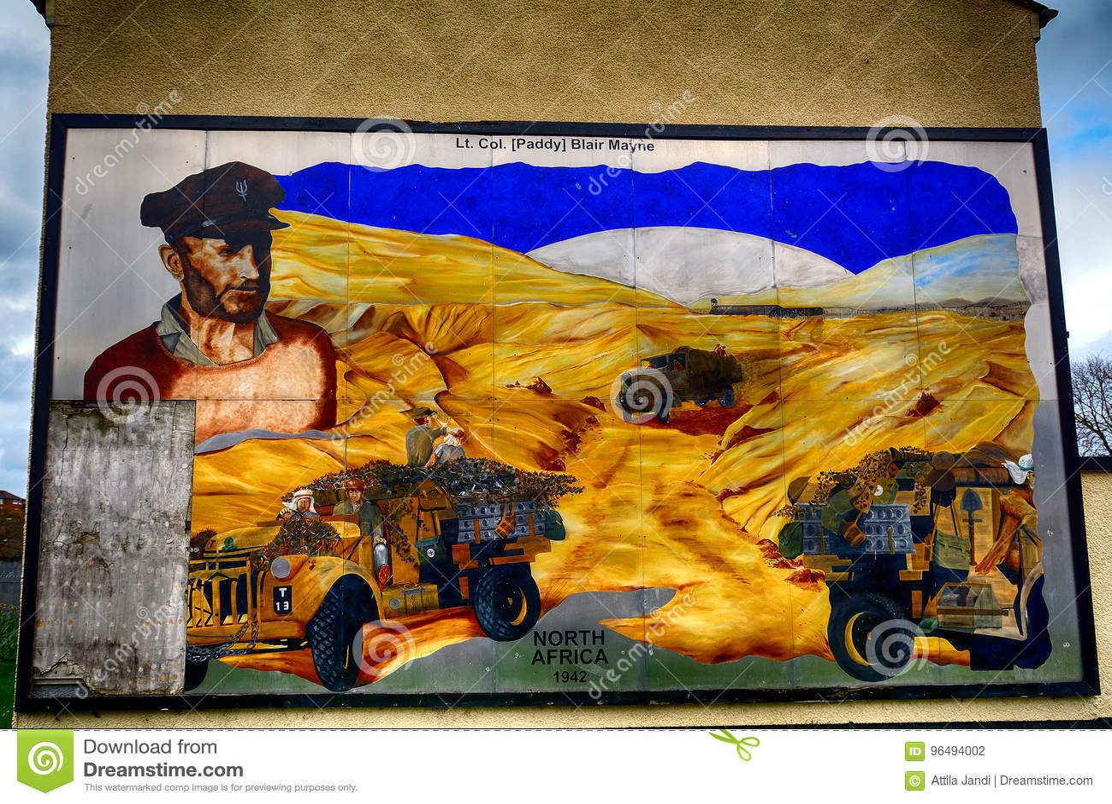 Peinture Murale De Syndicaliste Newtownards Irlande Du